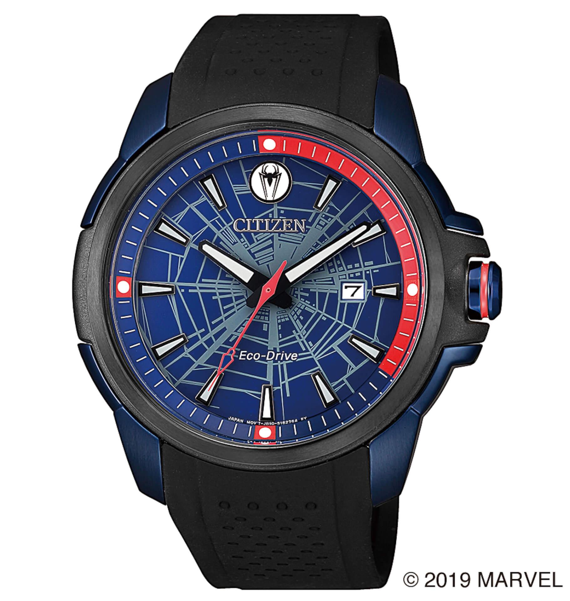「スパイダーマン」や「キャプテン・アメリカ」が腕時計に!マーベルキャラクターをモチーフにしたシチズン腕時計全9モデルが登場 tech190919_marvel_watch_11