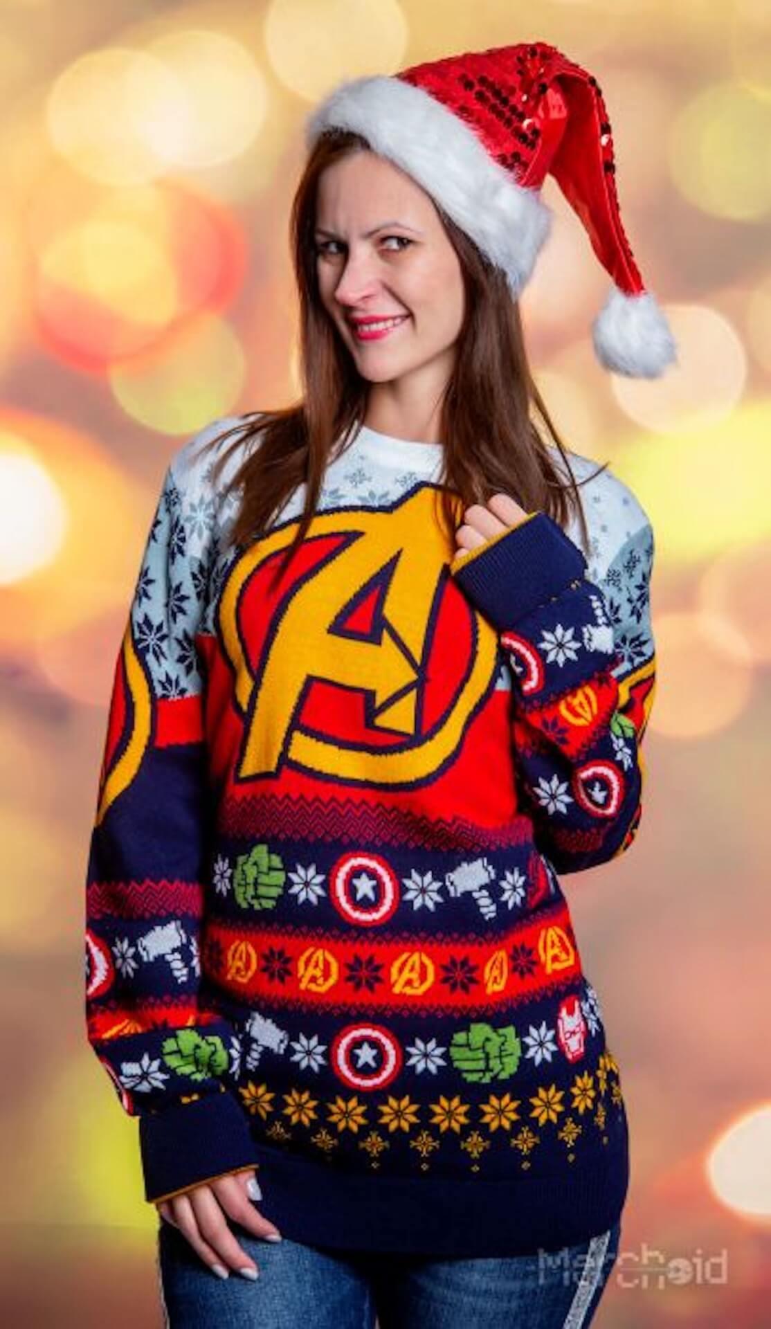 「ダサいセーター」コレクションにアイアンマン、ブラックパンサーなどマーベルヒーローたちが登場 life-fashion190924-marvel-ugly-sweater-2