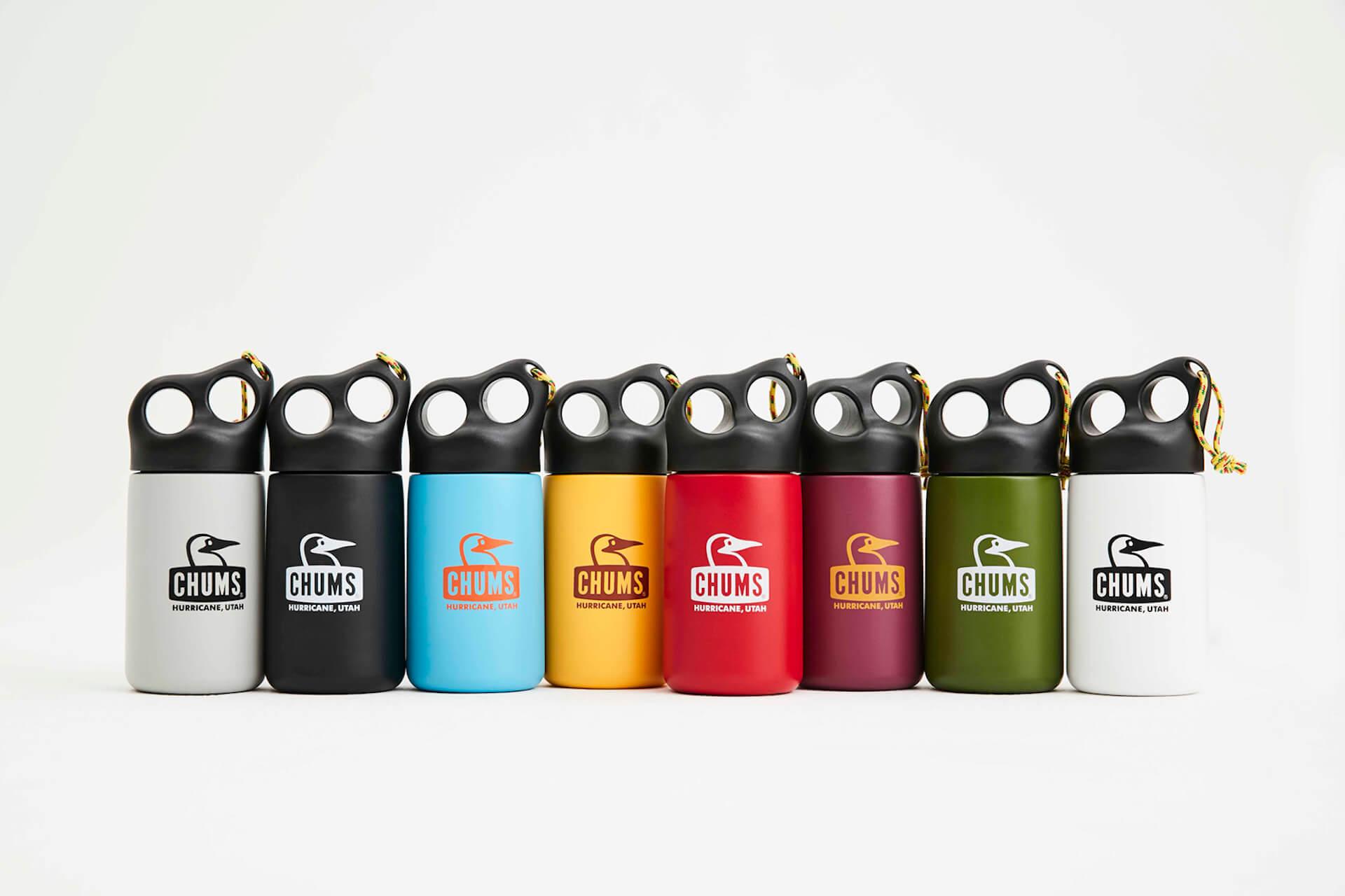 チャムスから環境に優しいカラフルでポップな3サイズ全8色のステンレスボトルが登場 camperstainlessbottle320