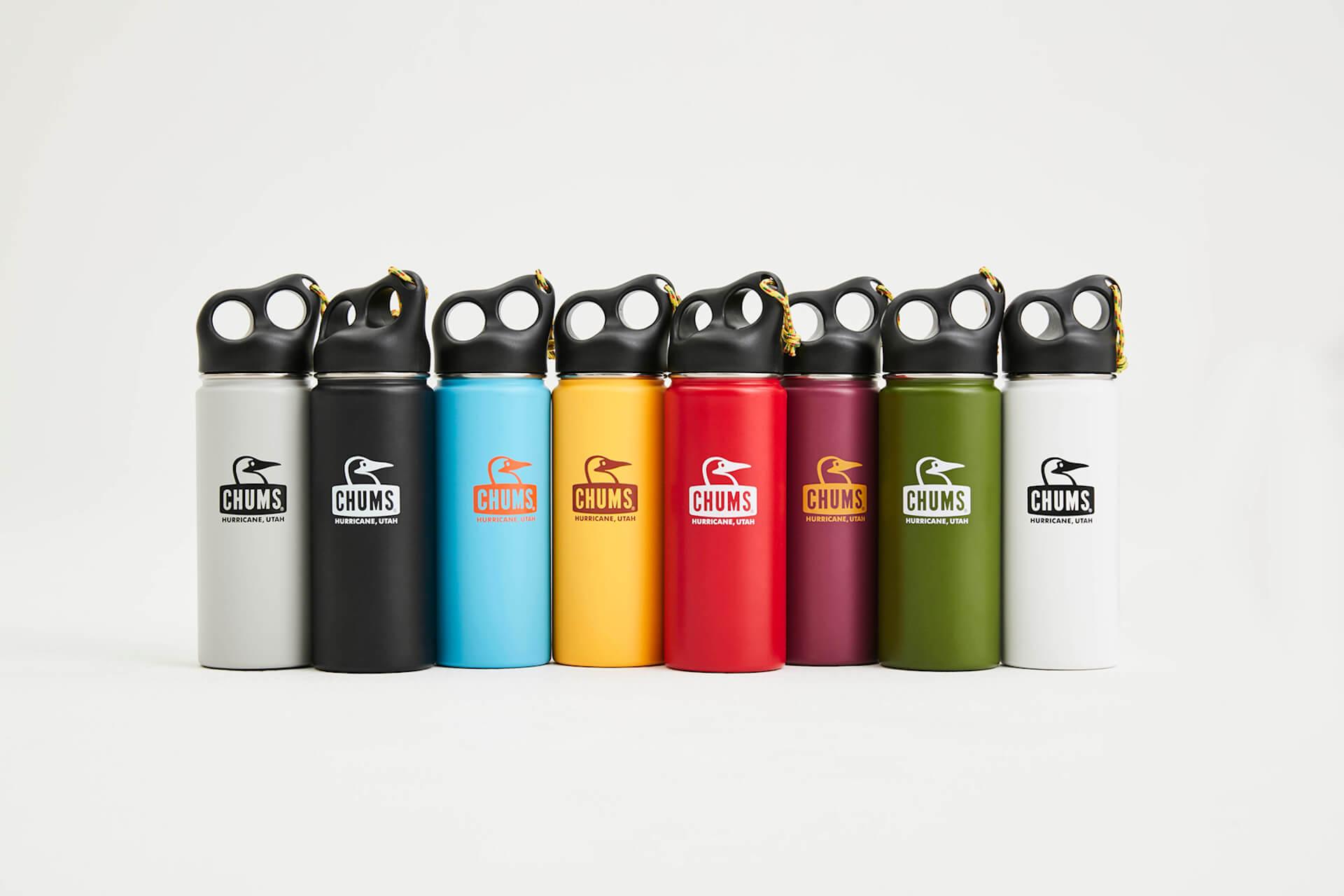 チャムスから環境に優しいカラフルでポップな3サイズ全8色のステンレスボトルが登場 camperstainlessbottle550