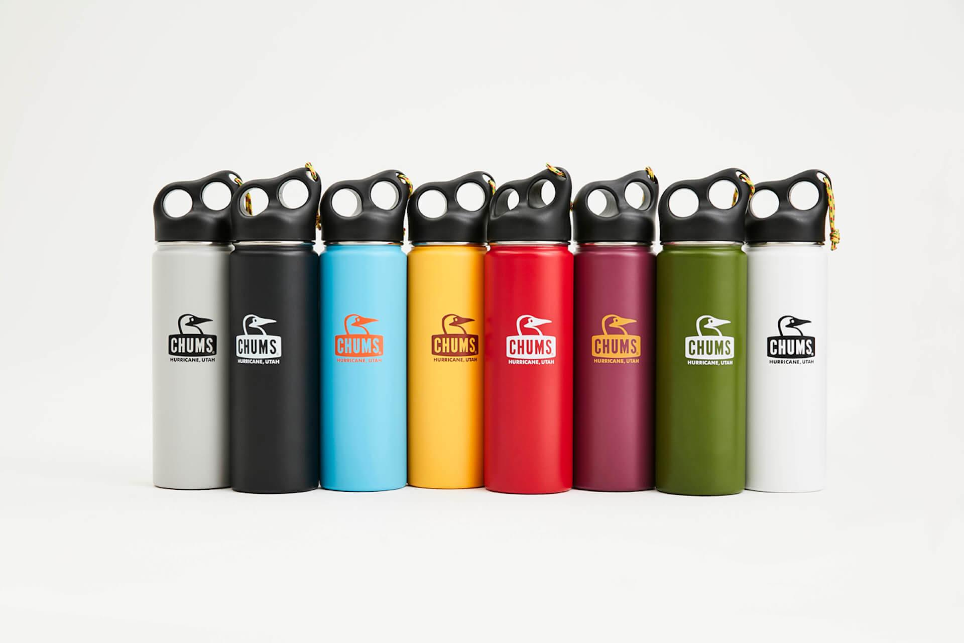 チャムスから環境に優しいカラフルでポップな3サイズ全8色のステンレスボトルが登場 camperstainlessbottle650
