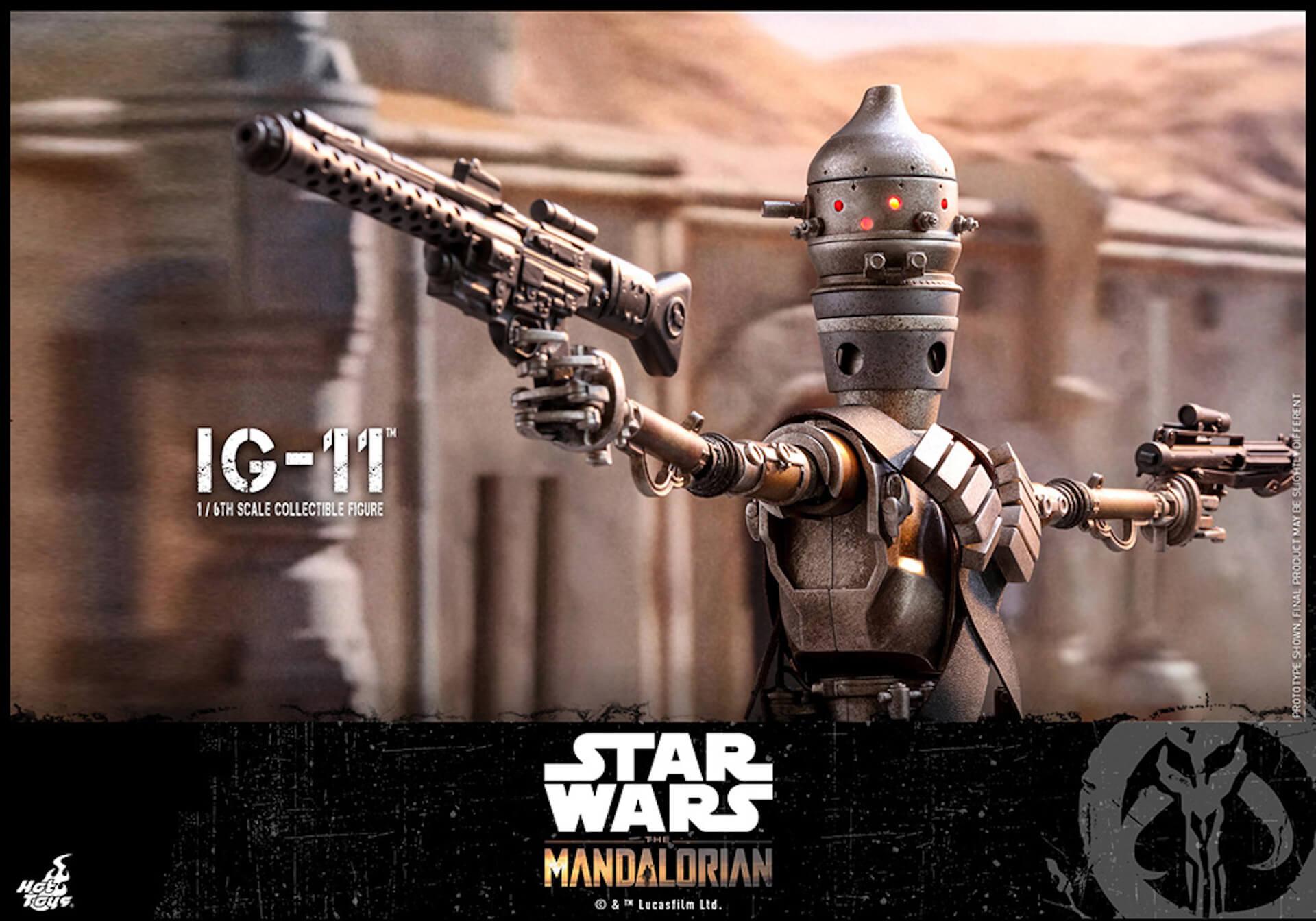 「スター・ウォーズ」テレビシリーズ『ザ・マンダロリアン』からマンダロリアン&IG-11のフィギュアがホットトイズに登場! art191010_starwars_toys_6