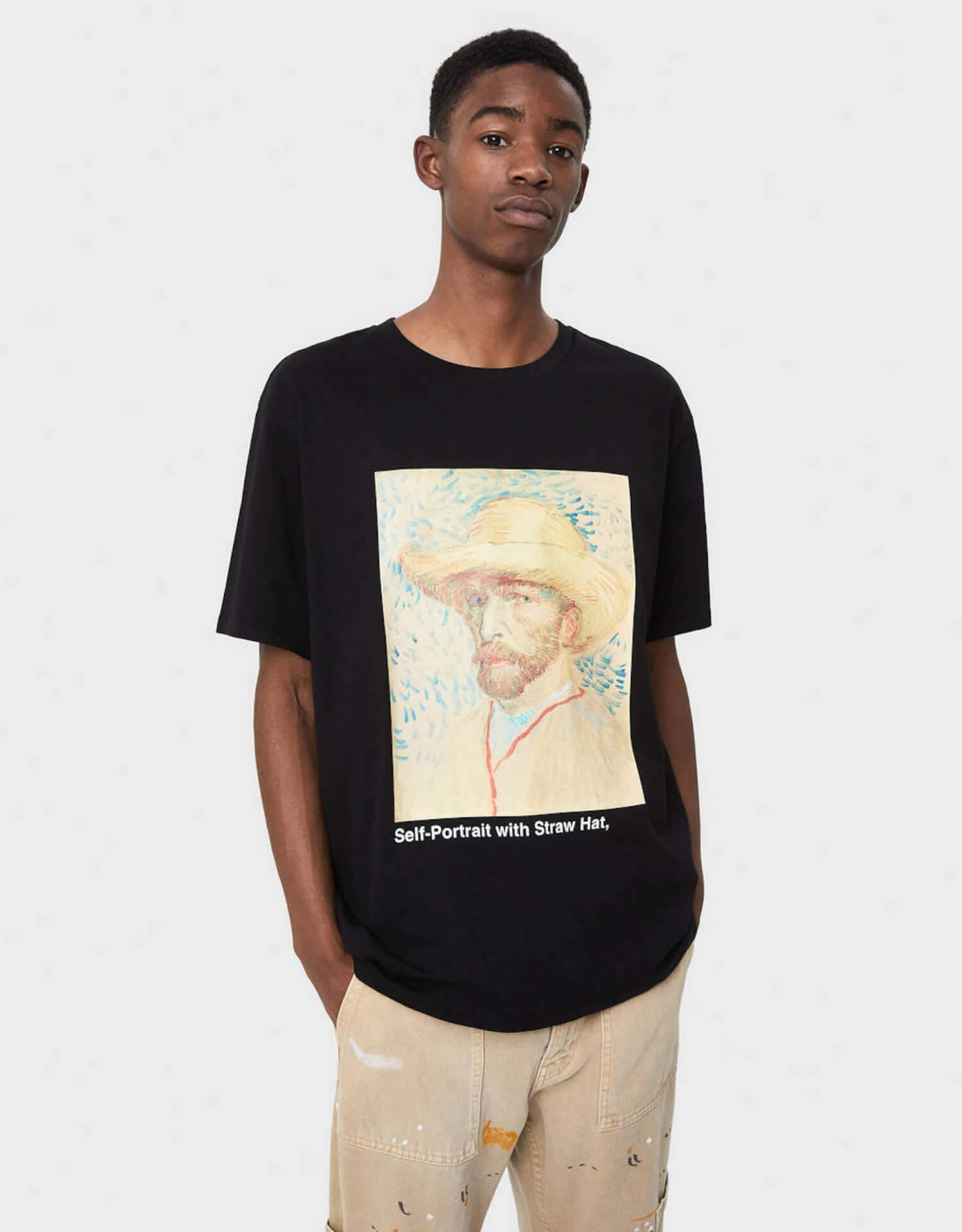ゴッホ×Bershka 名作『ひまわり』や自画像をプリントしたスウェット、シャツが発売決定! lifefashion191017_bershkagogh_10