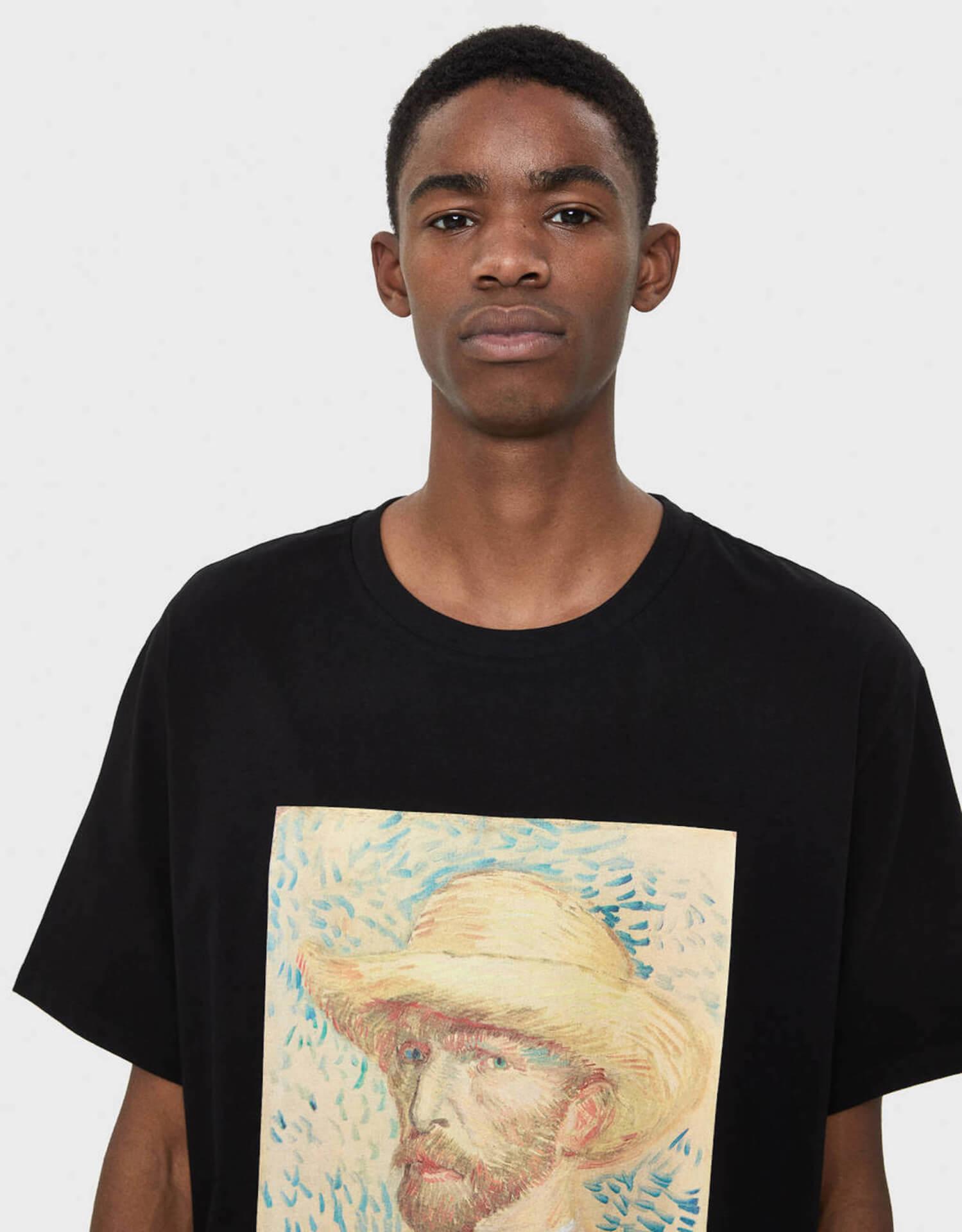 ゴッホ×Bershka 名作『ひまわり』や自画像をプリントしたスウェット、シャツが発売決定! lifefashion191017_bershkagogh_11