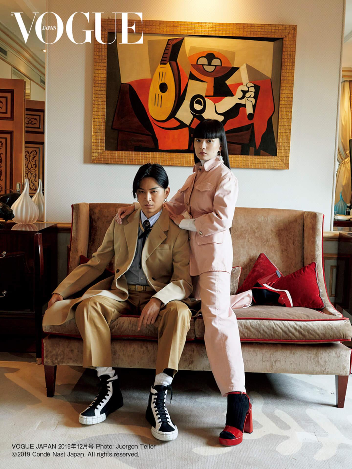 松田翔太&秋元梢夫妻が『VOUGE JAPAN』表紙に初のスペシャルシューティング!独占インタビューも収録 art191021_vogue_couple_1