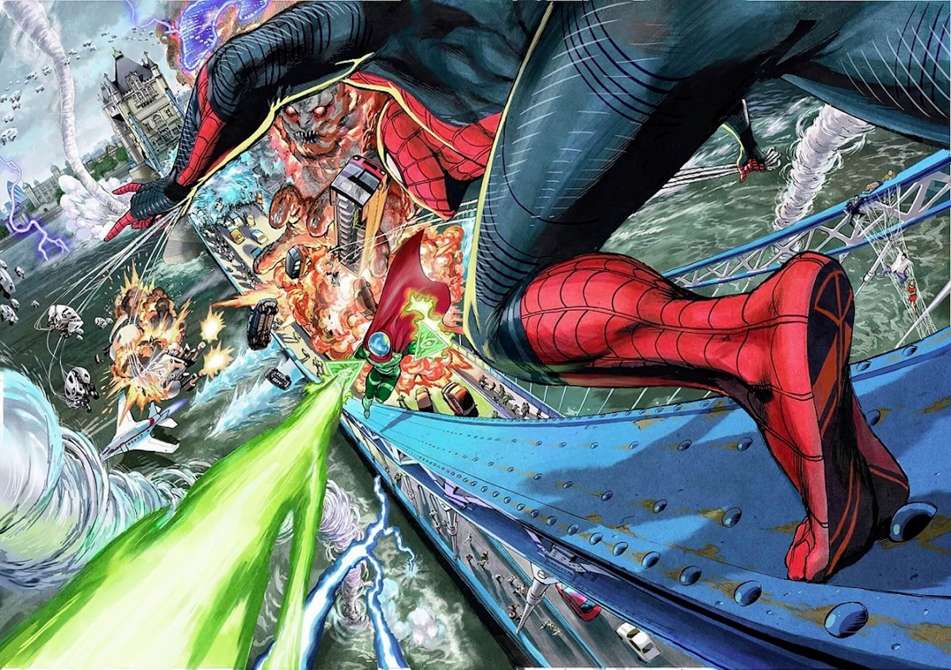『ワンパンマン』村田雄介による『スパイダーマン:ファー・フロム・ホーム』の描きおろしアートがついに公開! film191025_sffh_dvd_main