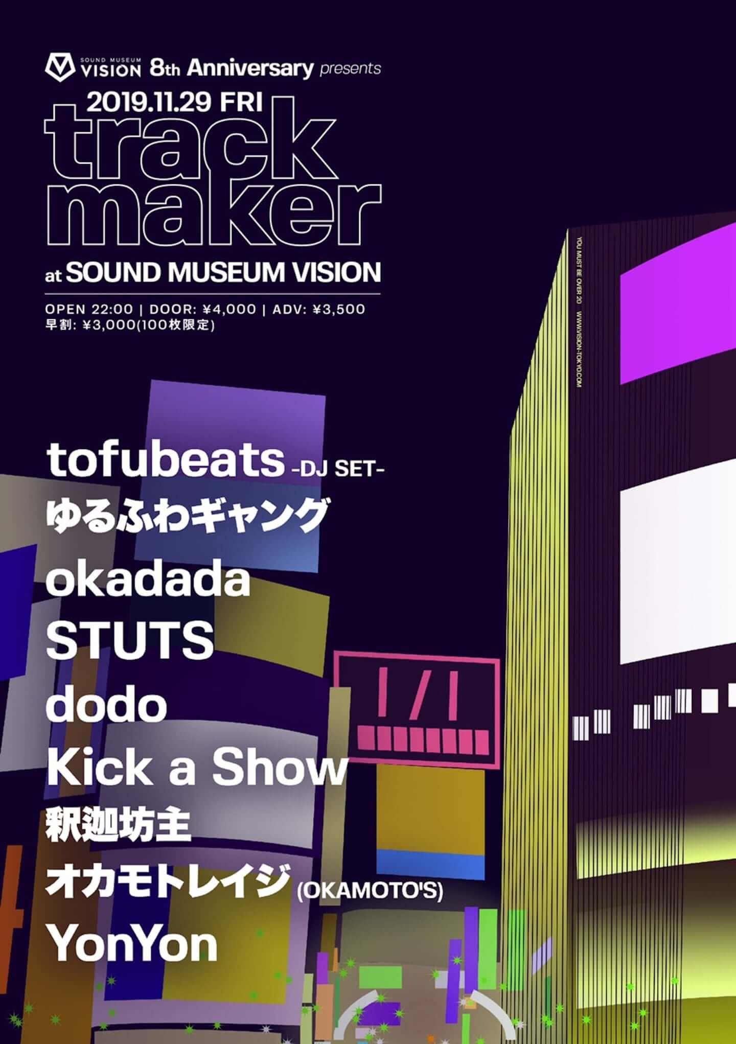 インタビュー|tofubeatsが語る、8周年を迎える渋谷・SOUND MUSEUM VISIONの魅力とは 20191129-1440x2043
