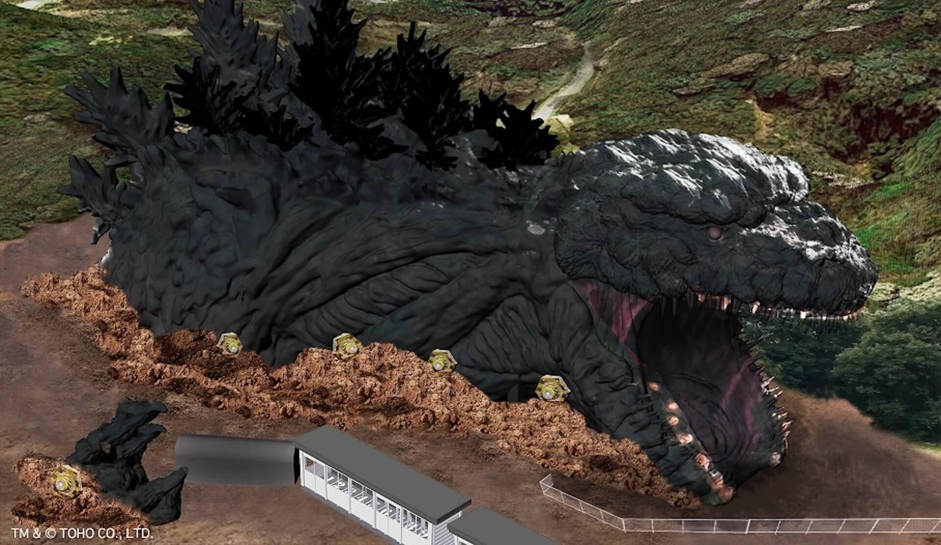 """淡路島に""""世界最大&等身大""""のゴジラが出現!?ミッション型アトラクション「ゴジラ迎撃作戦」が2020年夏にオープン artculture_191031_godzilla_3"""