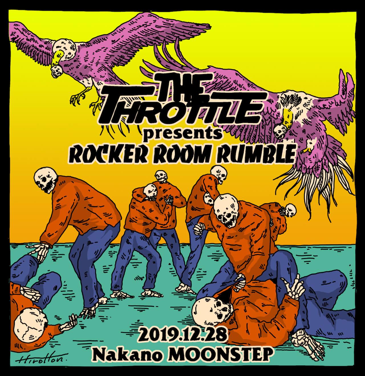 高岩遼率いるTHE THROTTLEがBustaSkill参加の新MVを公開 年末には大忘年会的ランブルパーティを開催 music191031-thethrottle