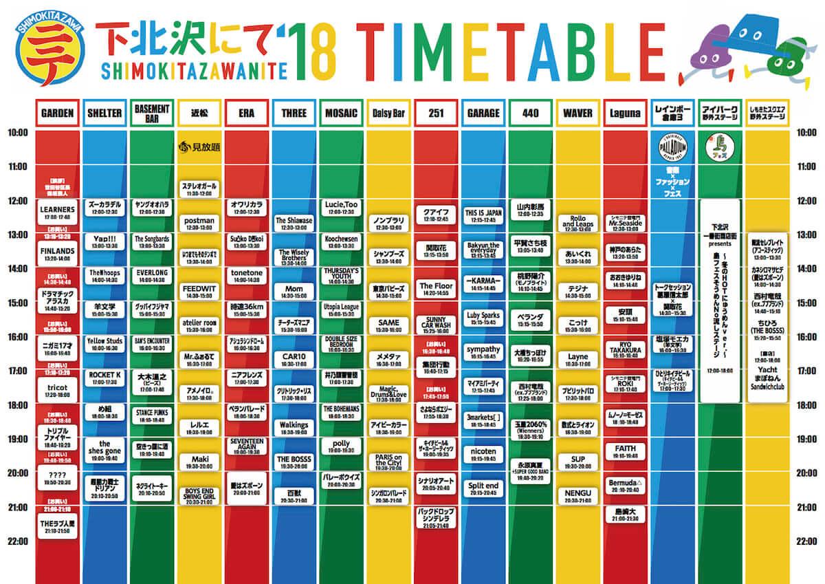 下北沢カルチャーが全て詰まったフェス<下北沢にて'18>開催!最終出演アーティストに安頭やYellow Studs、Magic,  Drums&Loveら13組発表! music181106_shimokita-nite_02-1200x849