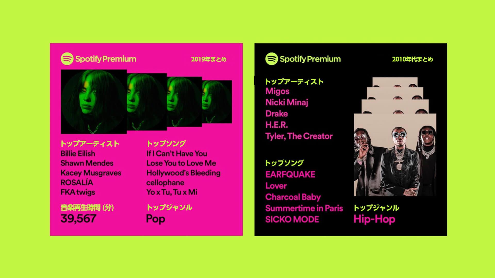Spotifyであなたの2019年を振り返ろう!「あなたの2019年まとめ」が本日より提供開始 music191205_spotify_1