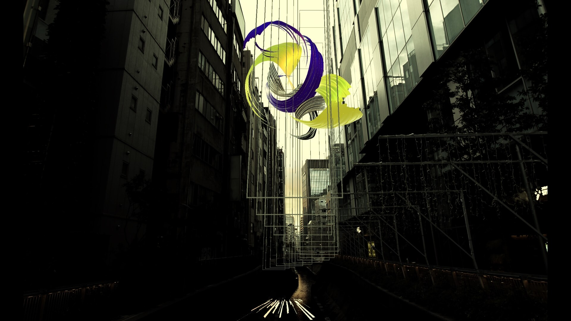 """デジタルアートが渋谷をジャック!<MUTEK.JP>×KDDIコラボXR ART展<INVISIBLE ART IN PUBLIC Vol.2"""" Synthetic Landscapes"""">体験レポート art191211_kddi_mutek_6"""