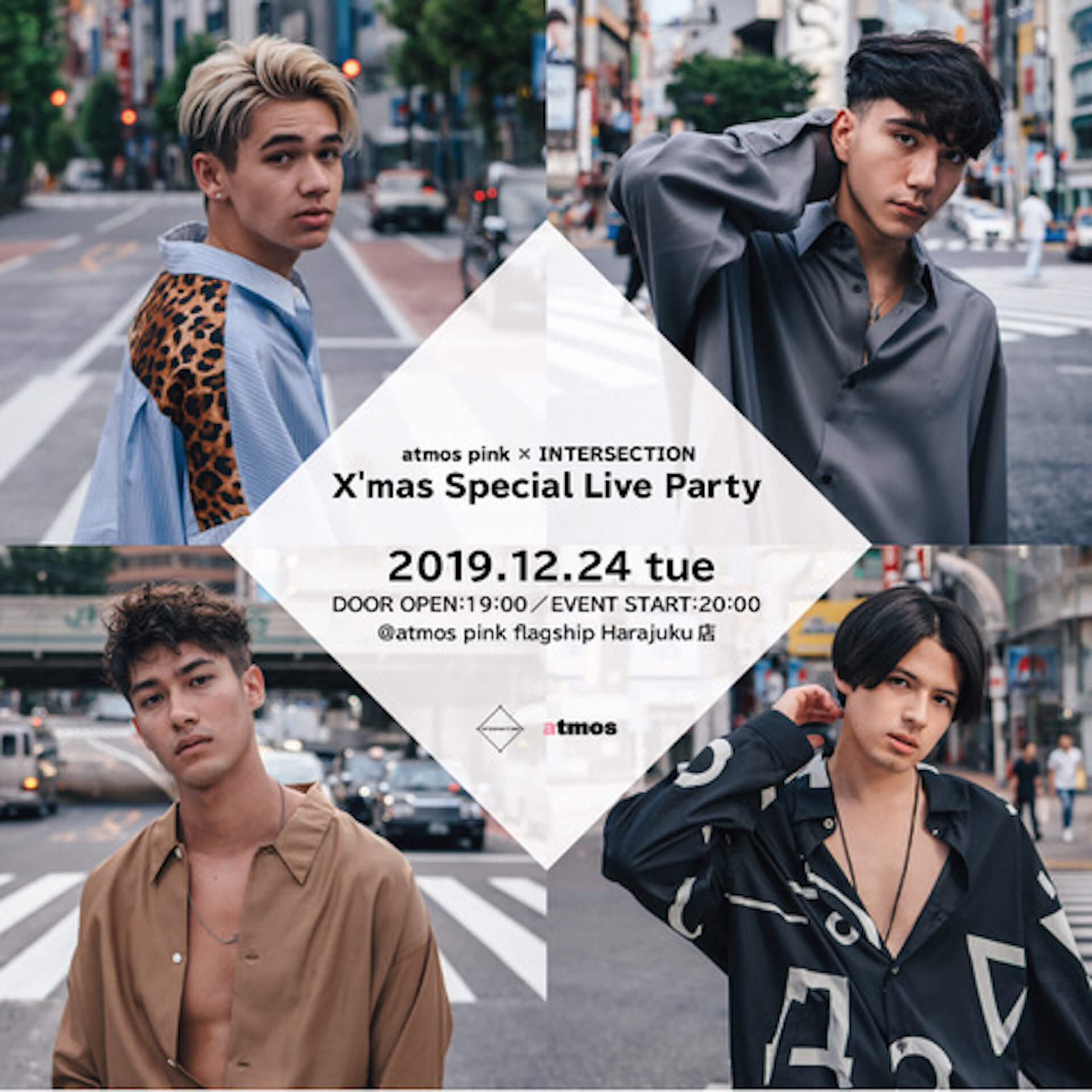 INTERSECTIONがatmos pinkでクリスマスパーティーを敢行!4カ月ぶりにメンバー全員が揃うミニライブ&トークショーも life191212_intersection_atmospink_2