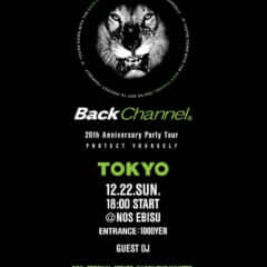 BACK CHANNEL 20TH ANNIVERSARY PARTY TOUR TOKYO