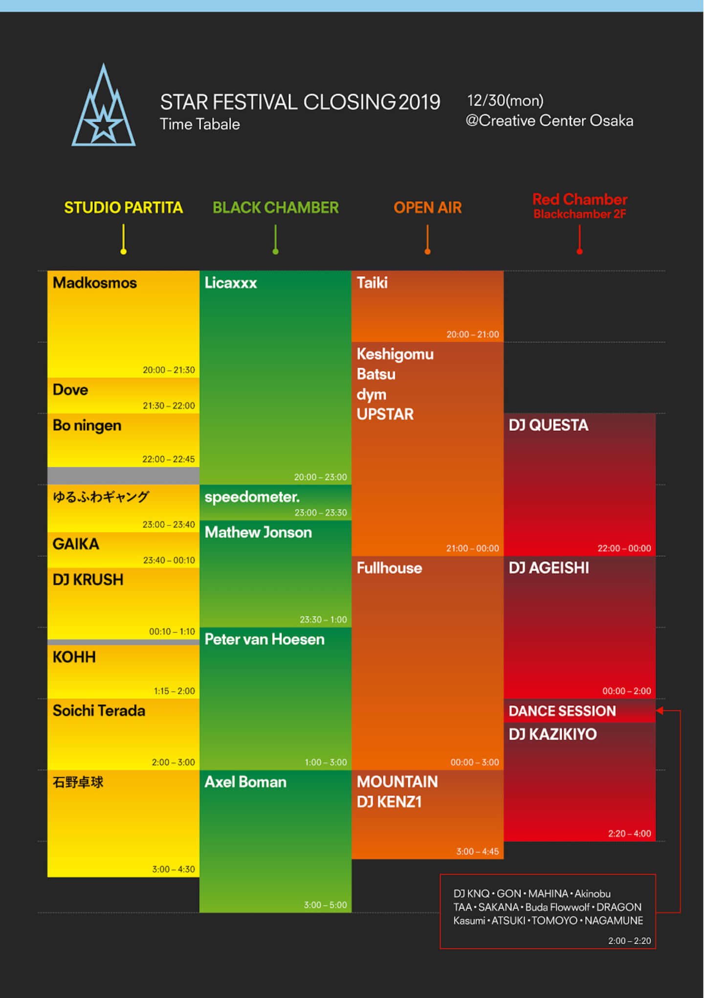 <STAR FESTIVAL CLOSING>に〈Warp Records〉からGAIKA緊急参戦!タイムテーブルなど最終詳細が発表 music1226_stafestt_03-1440x2040
