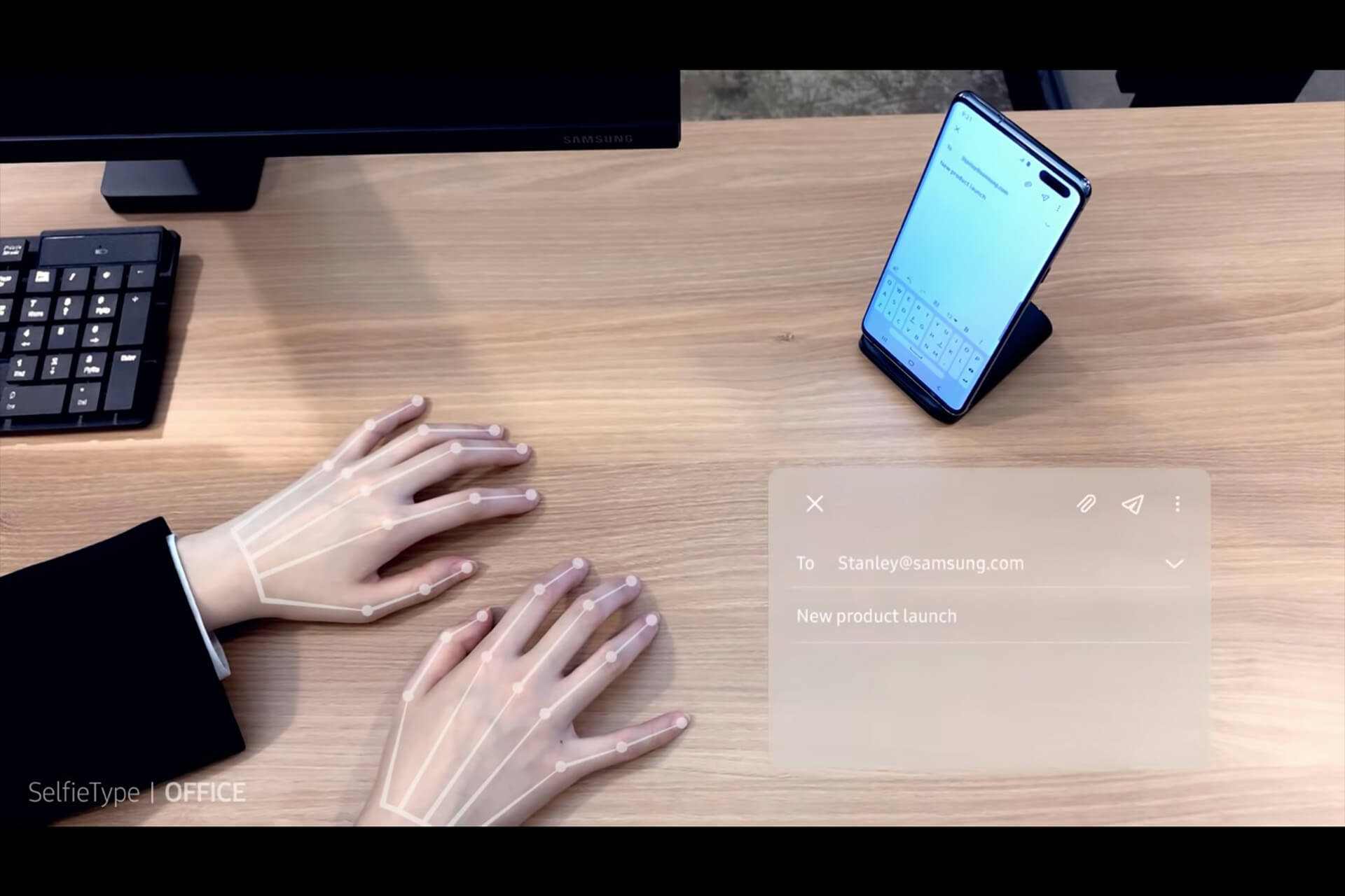 Samsung、スマホで使える目に見えないキーボード「SelfieType」を発表! tech200110_samsung_main
