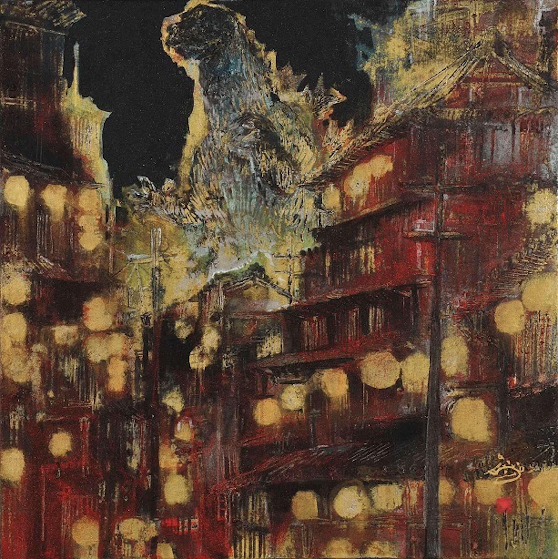 ゴジラが日本画で描かれる!展覧会<村上裕二日本画展 「怪獣王ゴジラの世界」>&<「怪獣王GODZILLA」村上裕二日本画展>が開催決定 artculture200115_godzilla_3-1920x1923