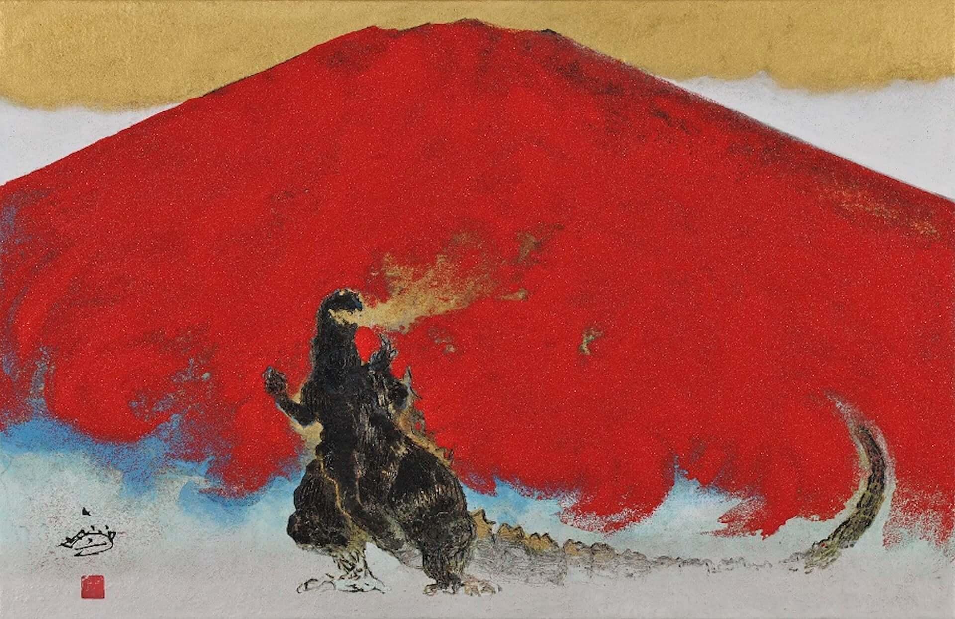 ゴジラが日本画で描かれる!展覧会<村上裕二日本画展 「怪獣王ゴジラの世界」>&<「怪獣王GODZILLA」村上裕二日本画展>が開催決定 artculture200115_godzilla_5-1920x1244