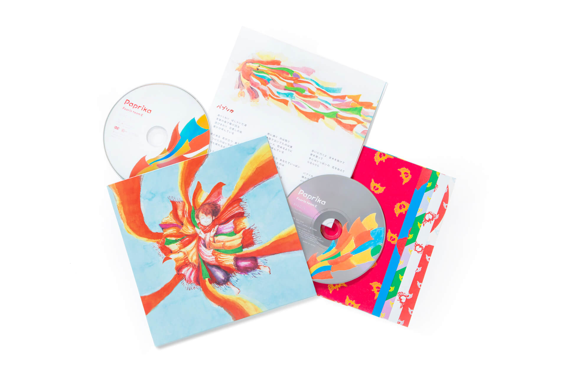 Foorin team E『Paprika』のシングルパッケージが初公開!初回盤にはポスター型、英語の歌詞カード付き music200116_paprika_4