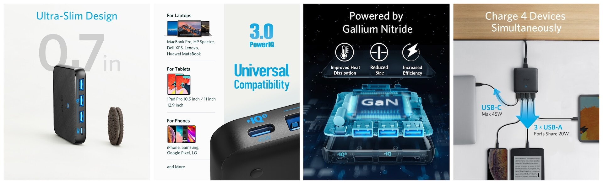 Ankerの最新急速スマホ充電器が超薄くて高性能!「Anker PowerPort Atom lll Slim(Four Ports)」発売 tech200117_anker_charge_2
