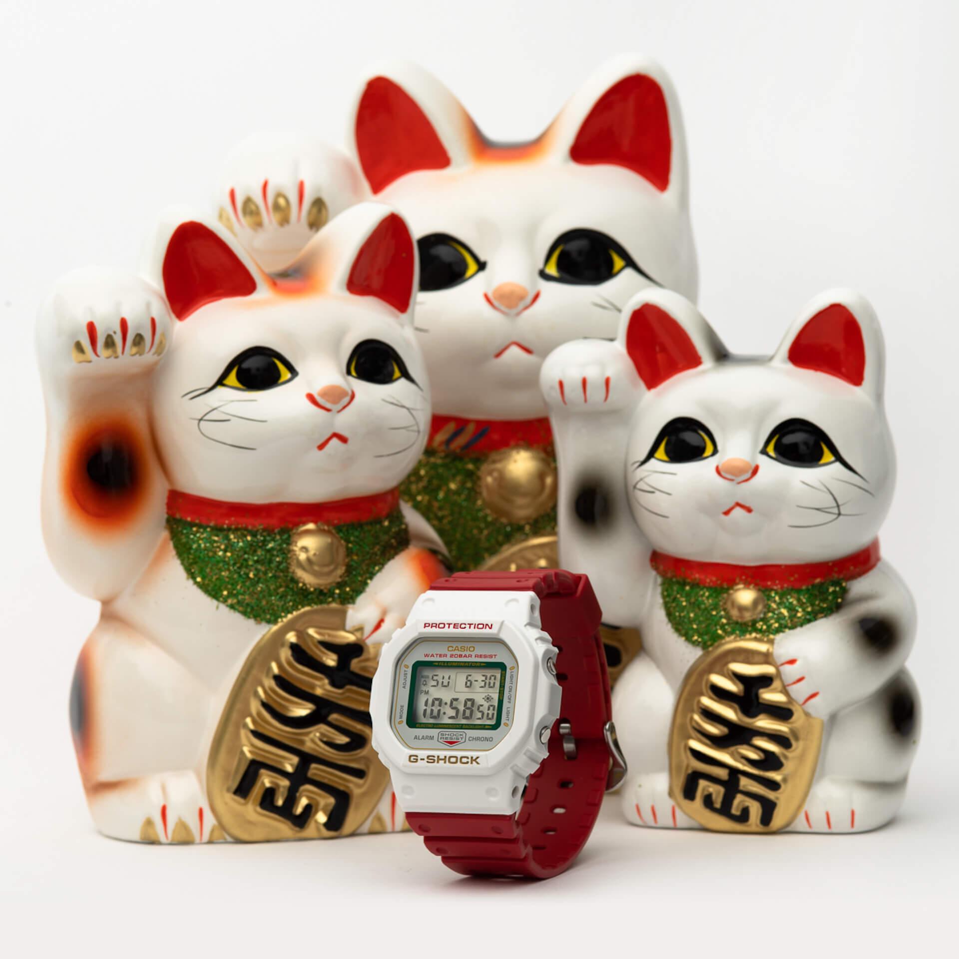 幸福を呼ぶG-SHOCK「MANEKINEKO」が誕生|BlackEyePatchデザインによる招き猫のイラストも life200122_gshock_bep_10