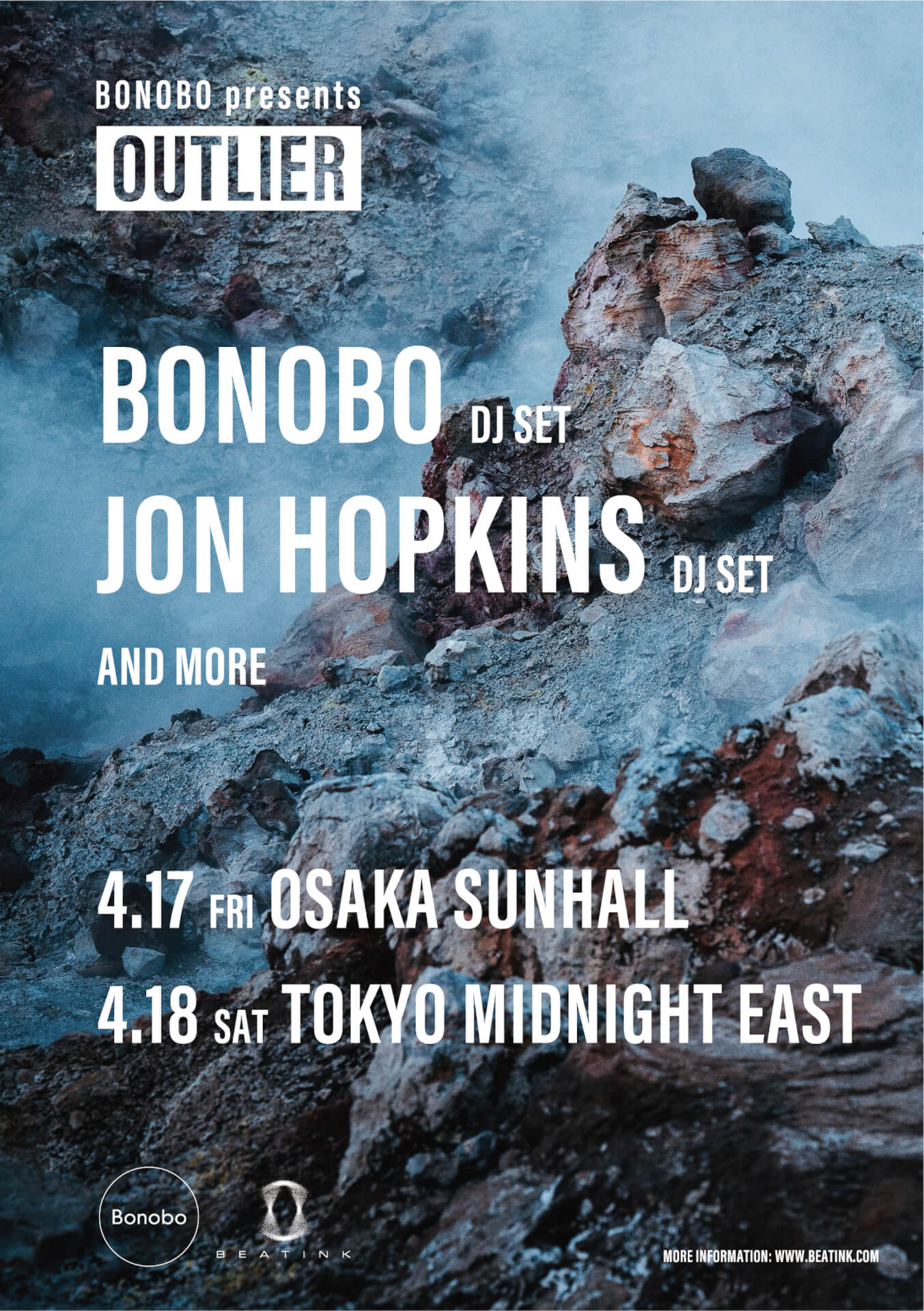 Bonoboがキュレートするイベント<OUTLIER>が大阪・東京で開催決定!ゲストにJon Hopkinsも登場 music200124_bonobooutlier_01