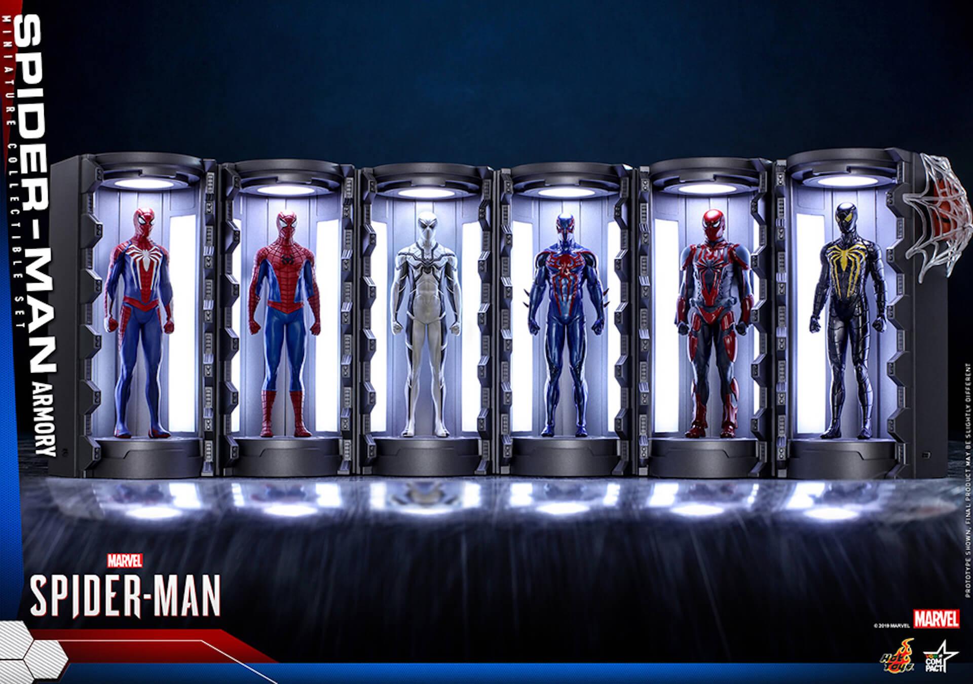 6つのスパイダーマン・スーツが勢ぞろい!大人気PS4用ゲームソフト『Marvel's Spider-Man』からミニチュア・フィギュアが登場 art200124_spiderman_hottoys_8