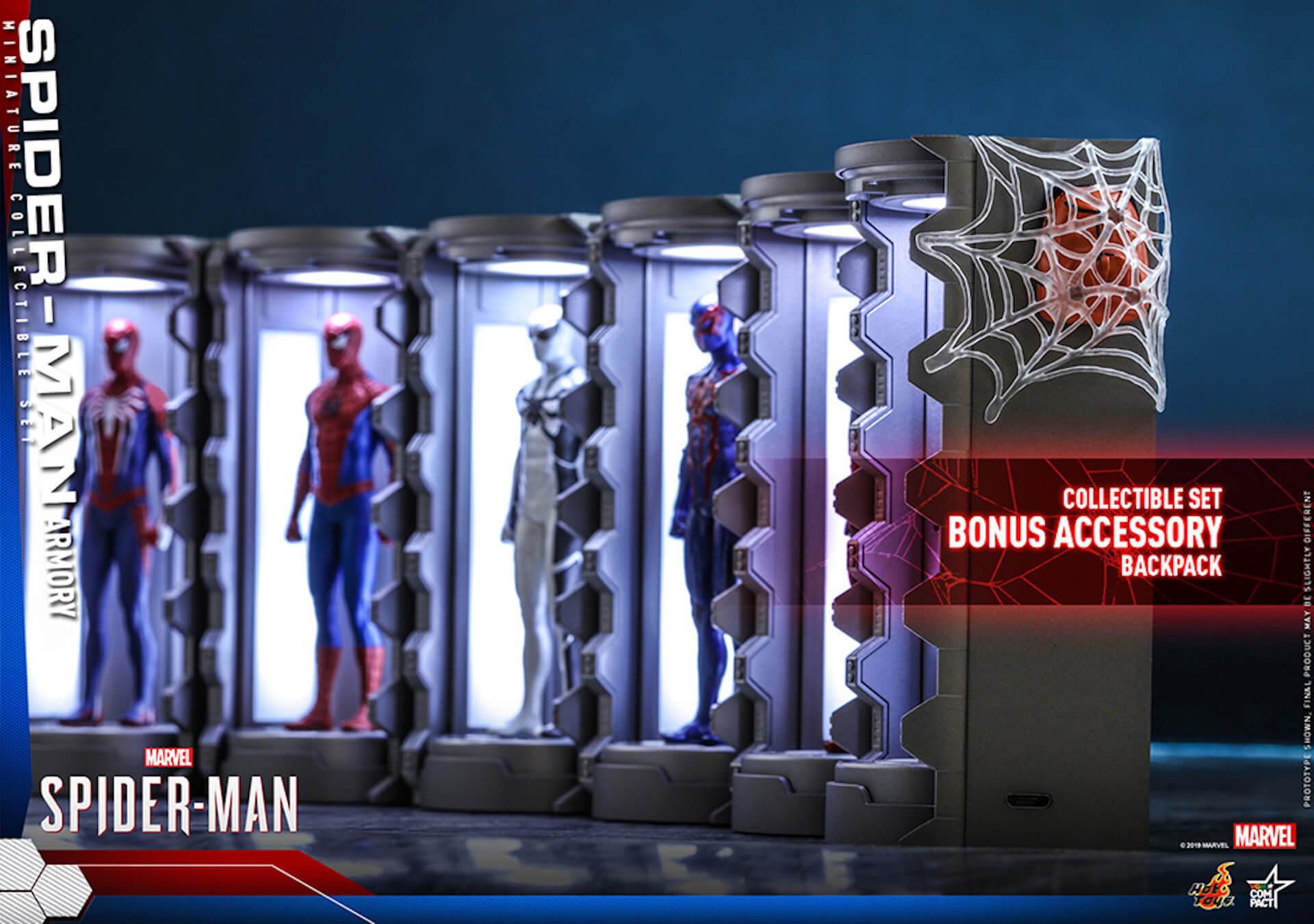 6つのスパイダーマン・スーツが勢ぞろい!大人気PS4用ゲームソフト『Marvel's Spider-Man』からミニチュア・フィギュアが登場 art200124_spiderman_hottoys_7