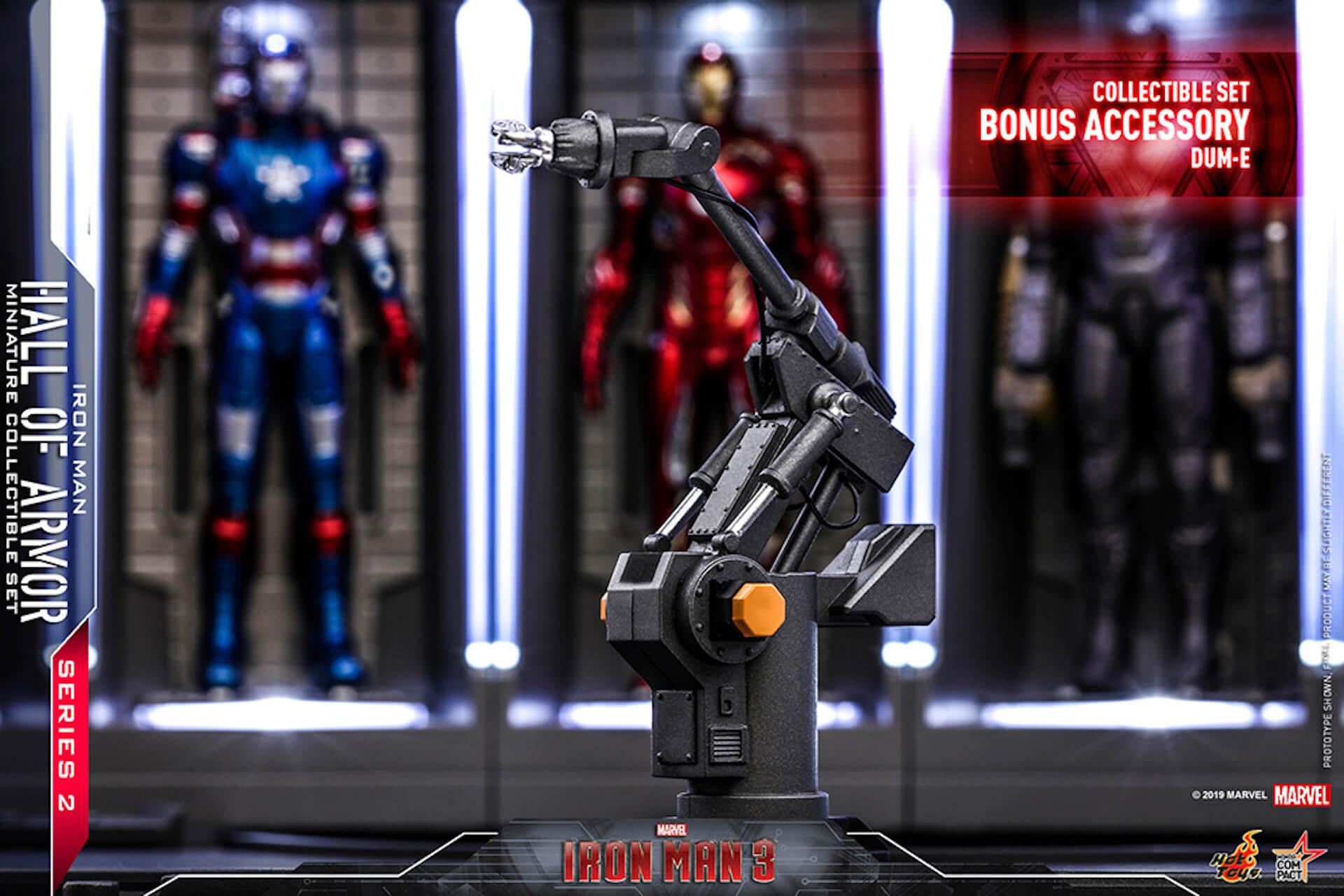 『アイアンマン3』に登場するアーマーが手のひらサイズに!ホットトイズからアイアンマンのミニチュアシリーズ2がホール・オブ・アーマー付き6体セットで発売! ac200124_hottoys_ironman_03