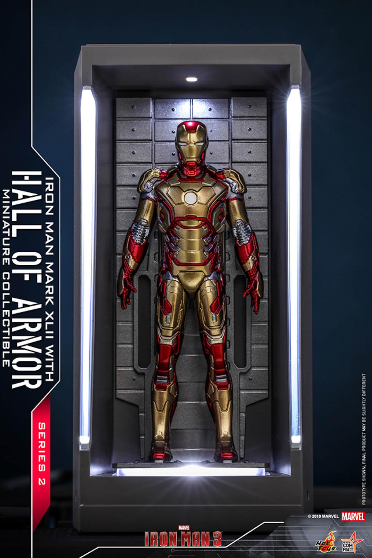 『アイアンマン3』に登場するアーマーが手のひらサイズに!ホットトイズからアイアンマンのミニチュアシリーズ2がホール・オブ・アーマー付き6体セットで発売! ac200124_hottoys_ironman_05