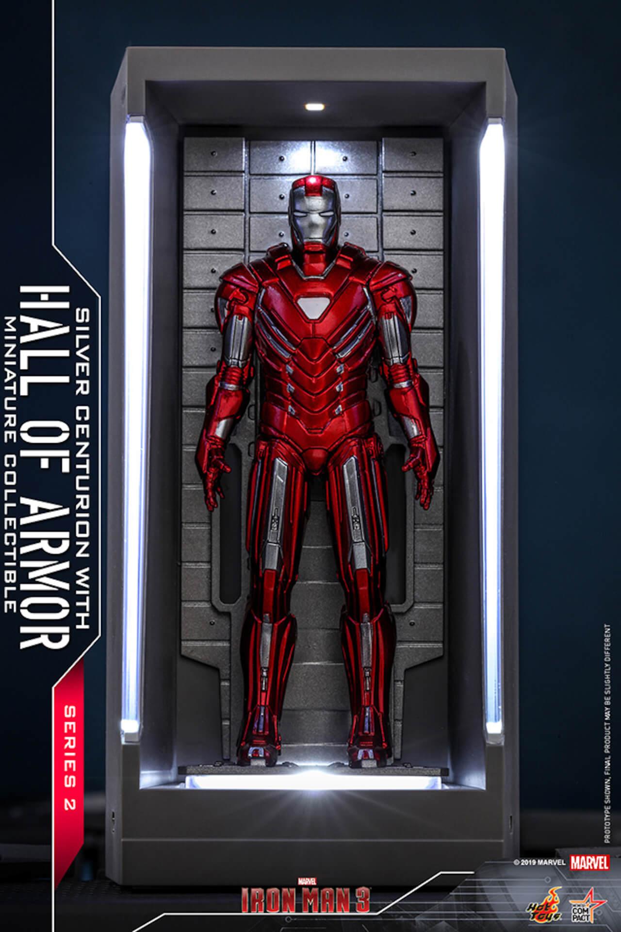 『アイアンマン3』に登場するアーマーが手のひらサイズに!ホットトイズからアイアンマンのミニチュアシリーズ2がホール・オブ・アーマー付き6体セットで発売! ac200124_hottoys_ironman_06