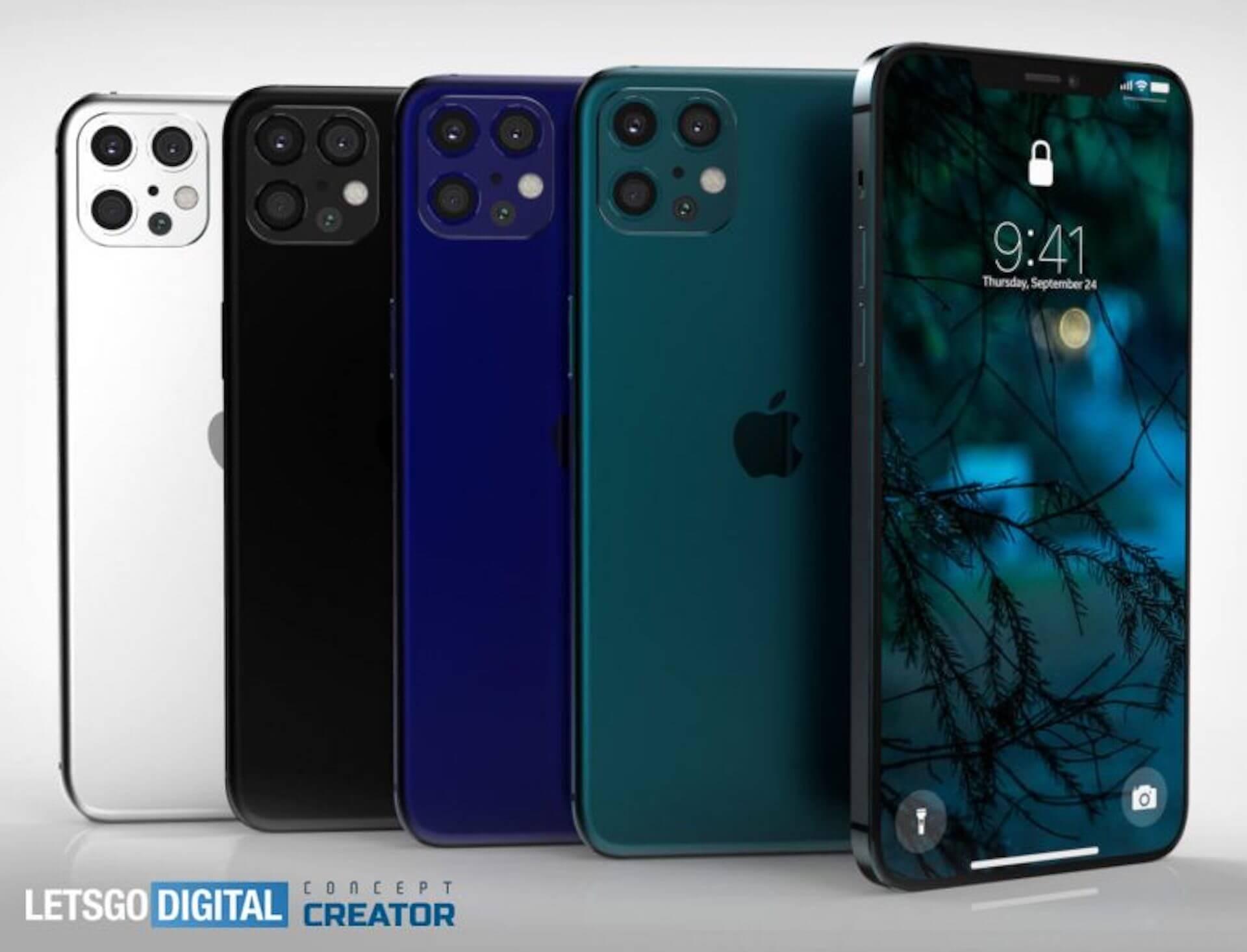 iPhone 12はこんな感じ?新たなレンダリング画像が公開|新色ネイビーブルーも tech200129_iphone12_1
