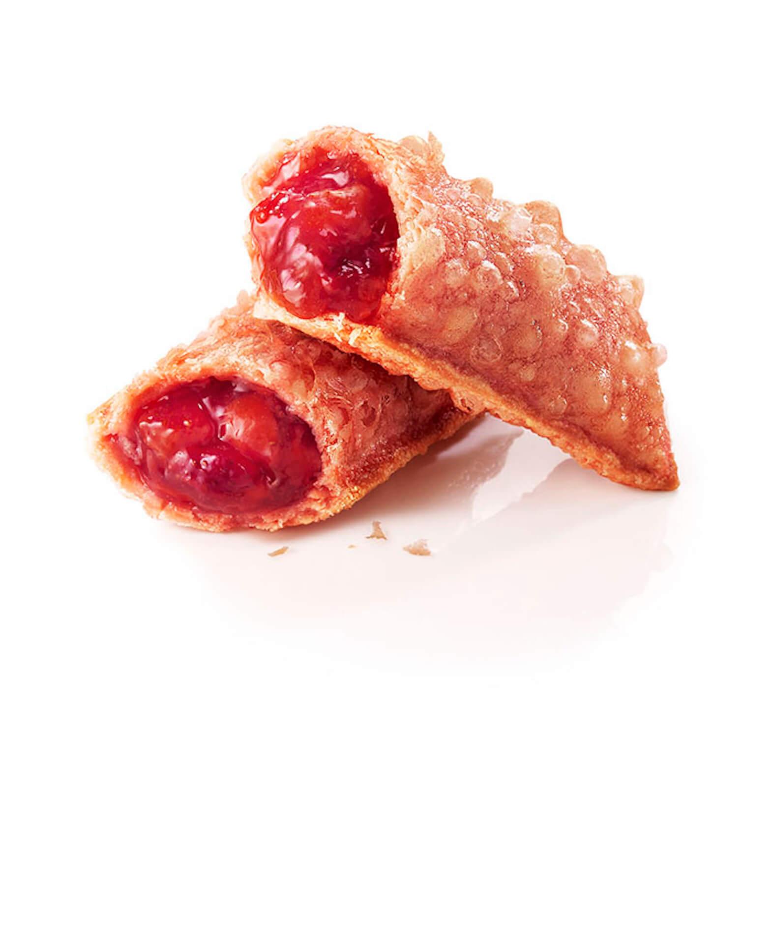 """マクドナルドから""""冒険""""の新商品ホットストロベリーパイが期間限定で登場!""""安定""""のホットアップルパイとどちらを選ぶ? gourmet200227_mcdonald_pie_2"""