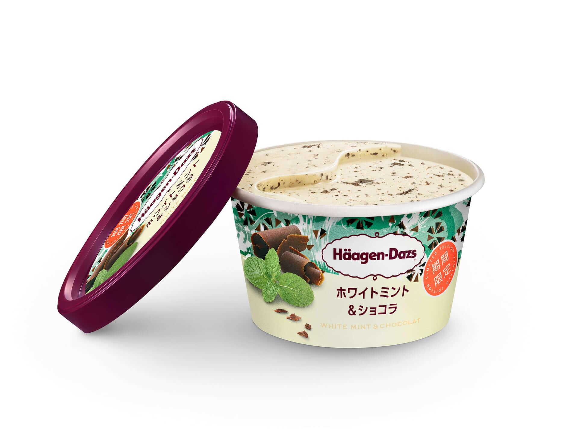 3年ぶりの登場!ハーゲンダッツミニカップのチョコミントフレーバー『ホワイトミント&ショコラ』が期間限定で新発売 gourmet200309_minicup_3-1920x1442
