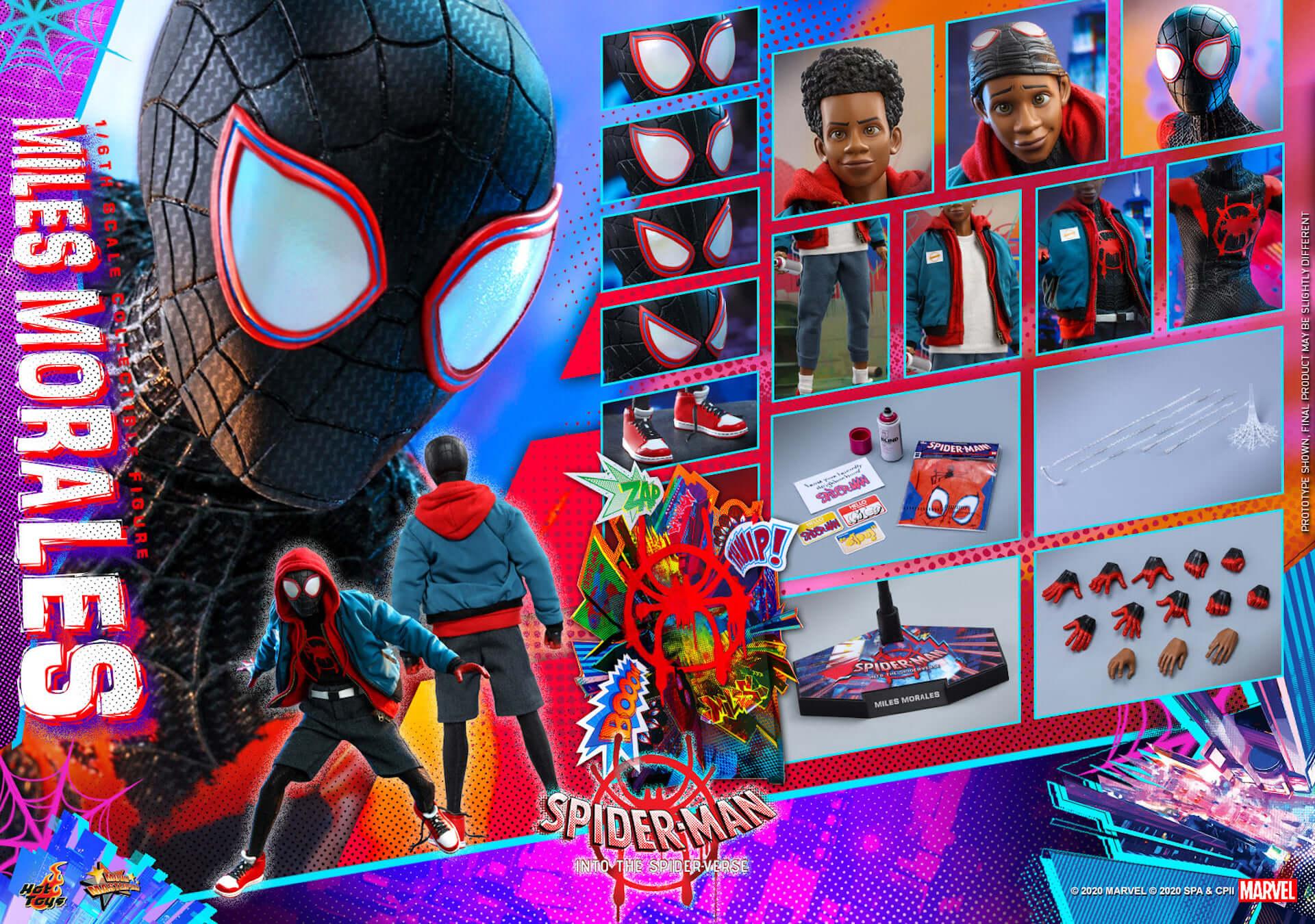 ついに『スパイダーマン:スパイダーバース』のマイルス・スパイダーマンがフィギュアに!ホットトイズ「ムービー・マスターピース」シリーズ新登場 film200310_spiderman_9-1920x1350
