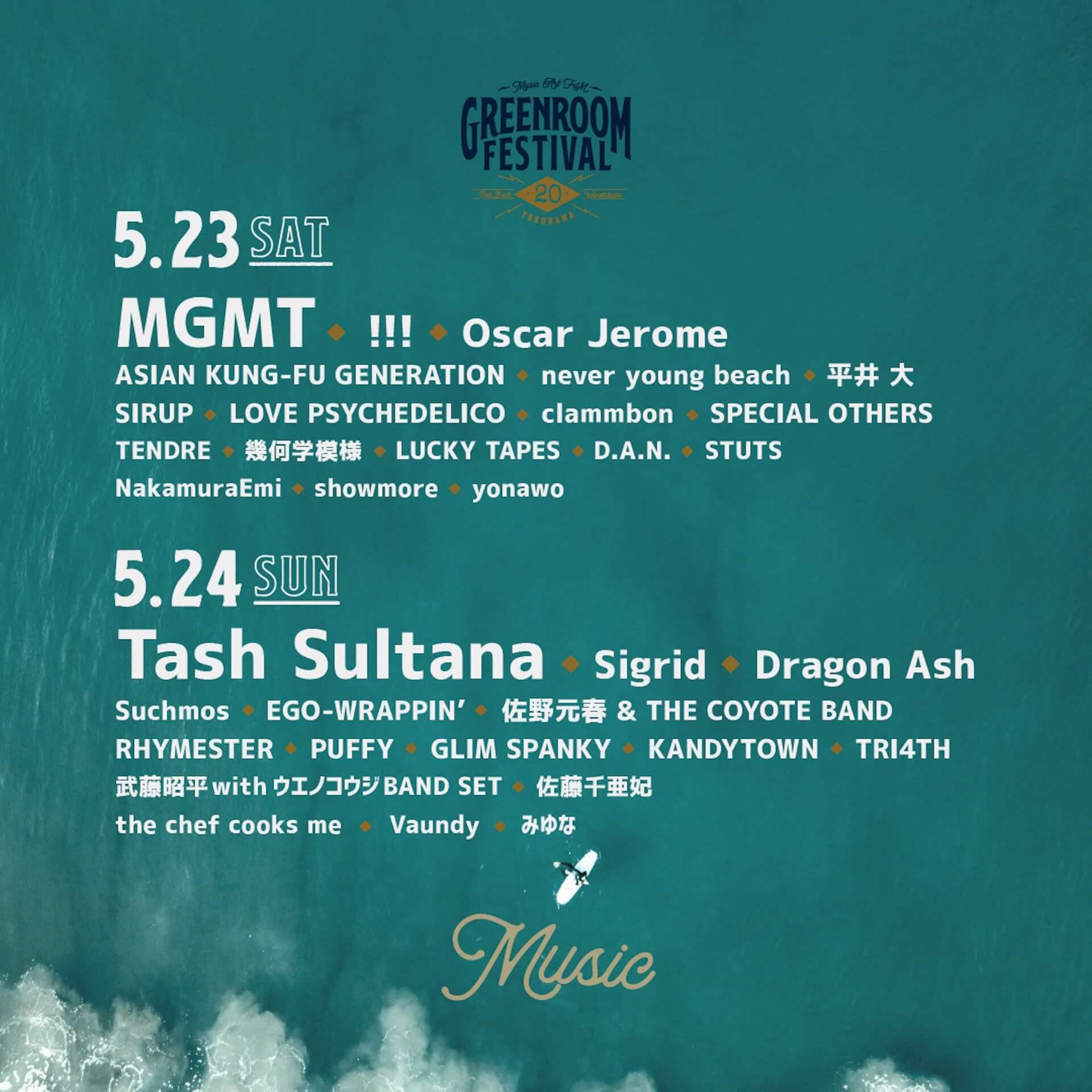 <GREENROOM FESTIVAL'20>第3弾アーティスト&日割り情報発表!Dragon Ash、幾何学模様、KANDYTOWNが登場 music200312_greenroom_15