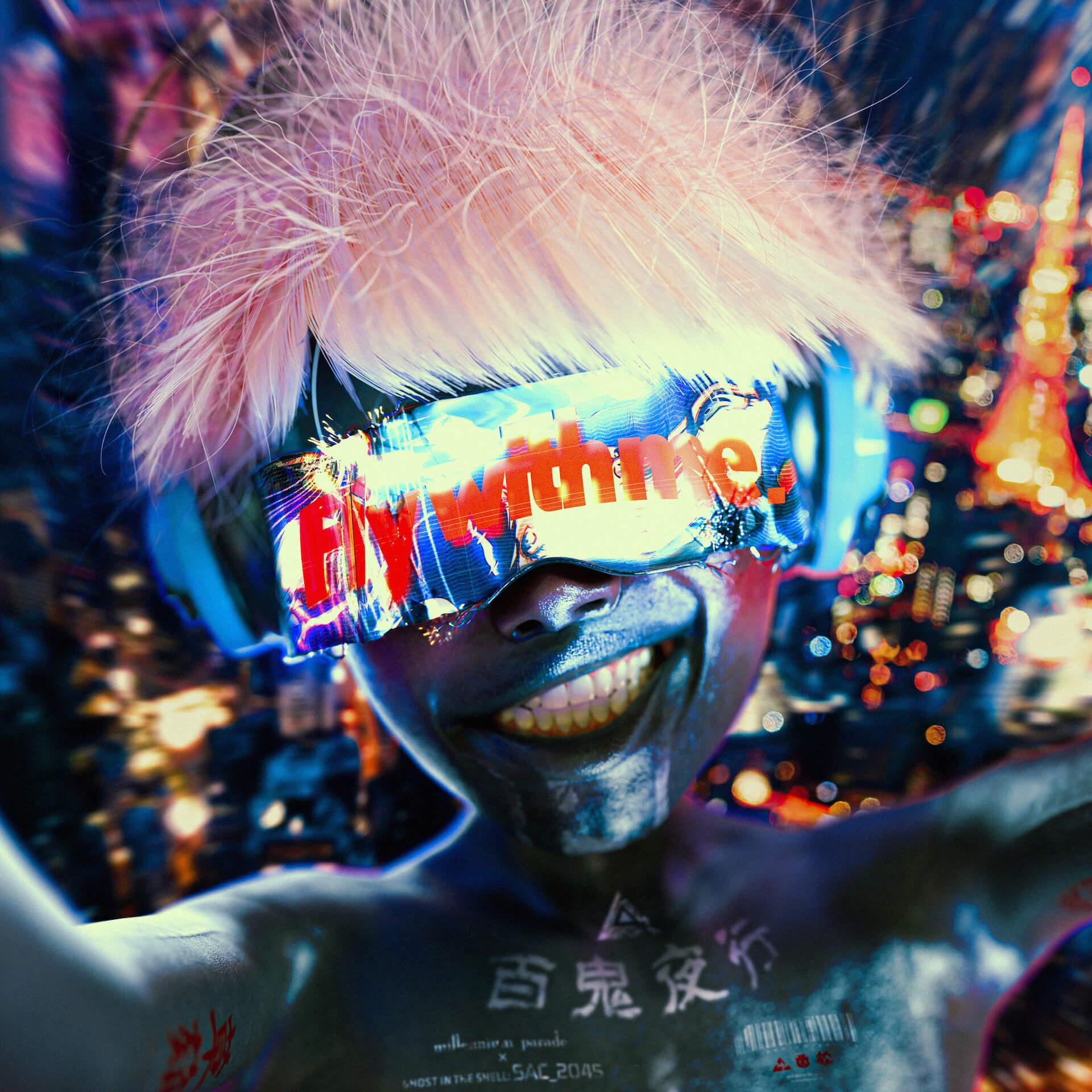 millennium paradeの攻殻機動隊テーマ「Fly with me」にSteve Aokiによるリミックス曲が収録決定!初ワンマンライブの音源も収録 art200330_ghostintheshell_tsuneda_6