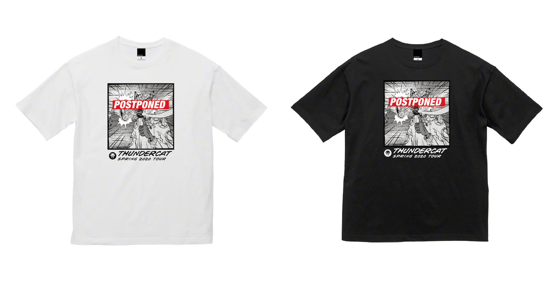 Thundercatがツアー延期Tシャツを発売!最新作『It Is What It Is』は自身初のオリコンチャートトップ10入り music200407_thundercat_tshirt_3