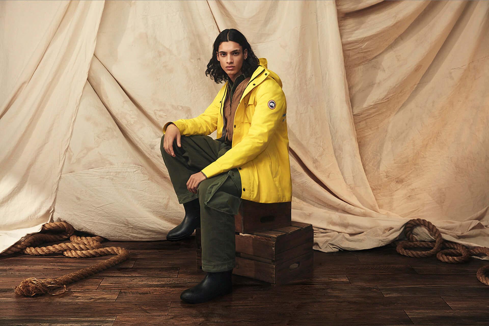 カナダグースの2020年春コレクションにイエローのレインウェアが登場!急な雨にも対応するポンチョ&ジャケット lf200417_-canadagoose_2-1920x1280