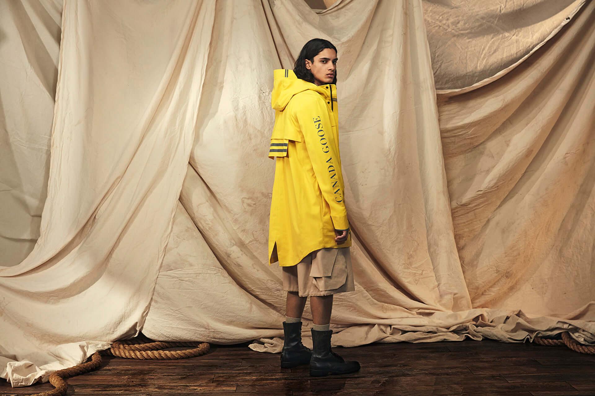 カナダグースの2020年春コレクションにイエローのレインウェアが登場!急な雨にも対応するポンチョ&ジャケット lf200417_-canadagoose_3-1920x1280