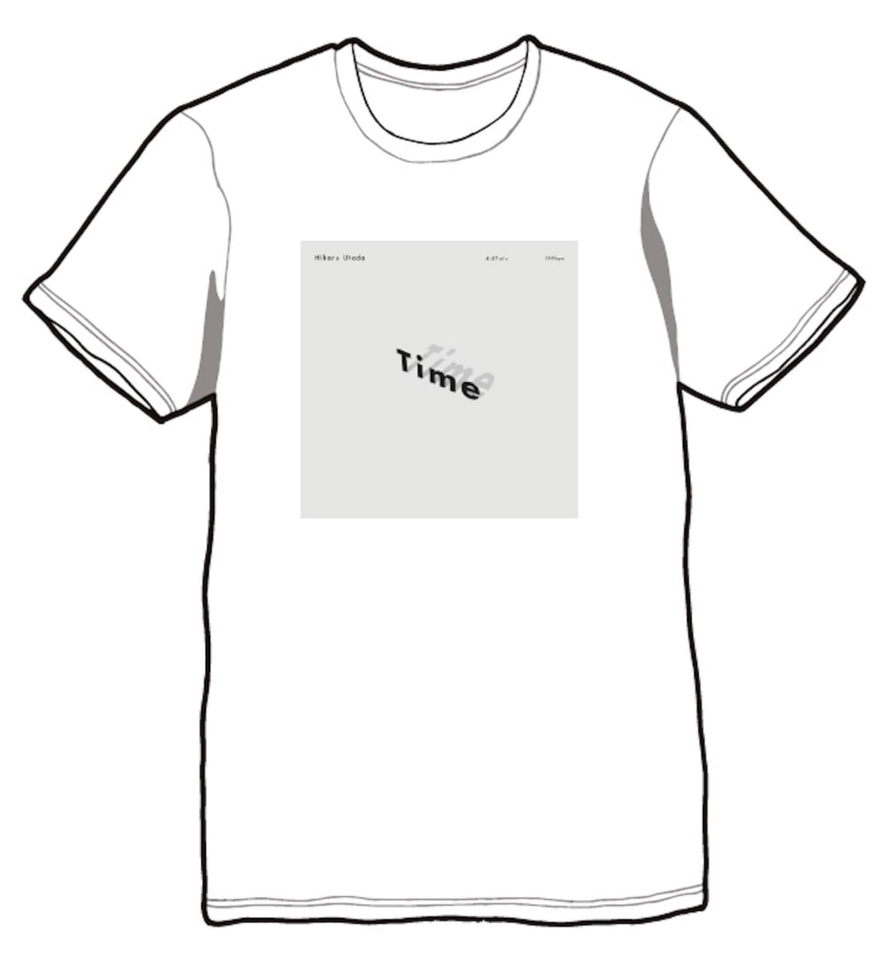 """宇多田ヒカル配信シングル""""Time""""の発売に先駆け、オリジナルTシャツが抽選で当たるキャンペーンがスタート! music200420_utadahikaru_03"""