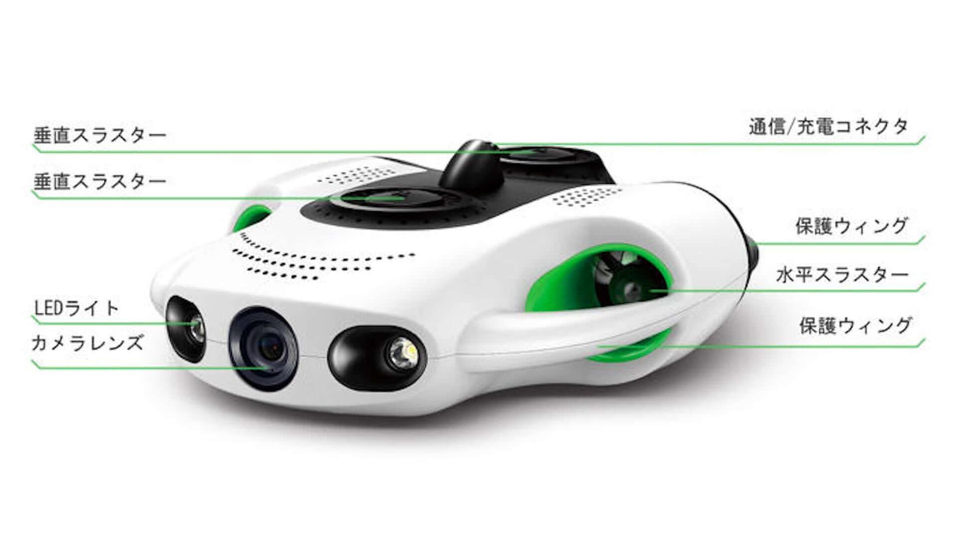 4Kカメラ&130度広角レンズ搭載の水中ドローン『BW Space Pro』がクラウドファンディングにて販売開始! tech200420_youcan_robot_5-1920x1114