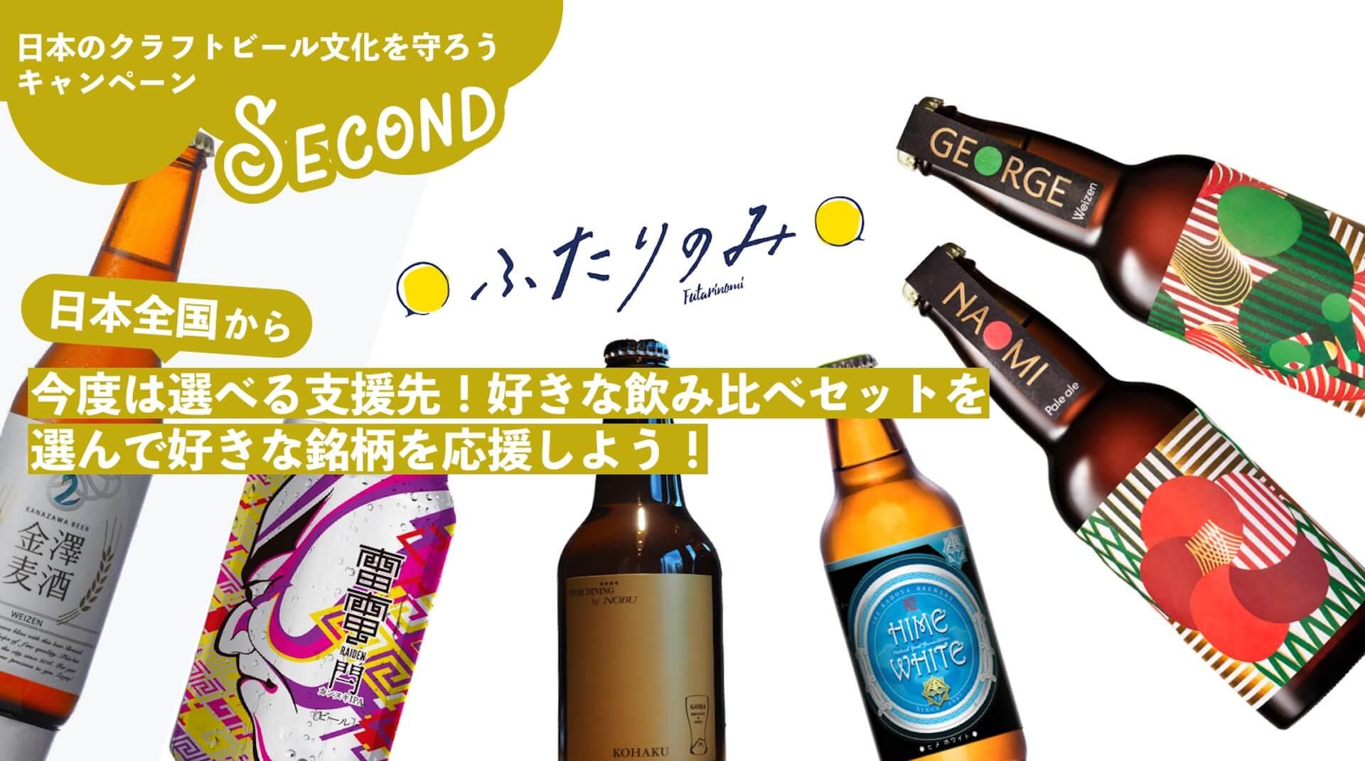 「日本のクラフトビール文化を守ろう」キャンペーン第2弾が始動!4地方別のブルワリー応援6本セットが登場 gourmet200420_hutarinomi_01