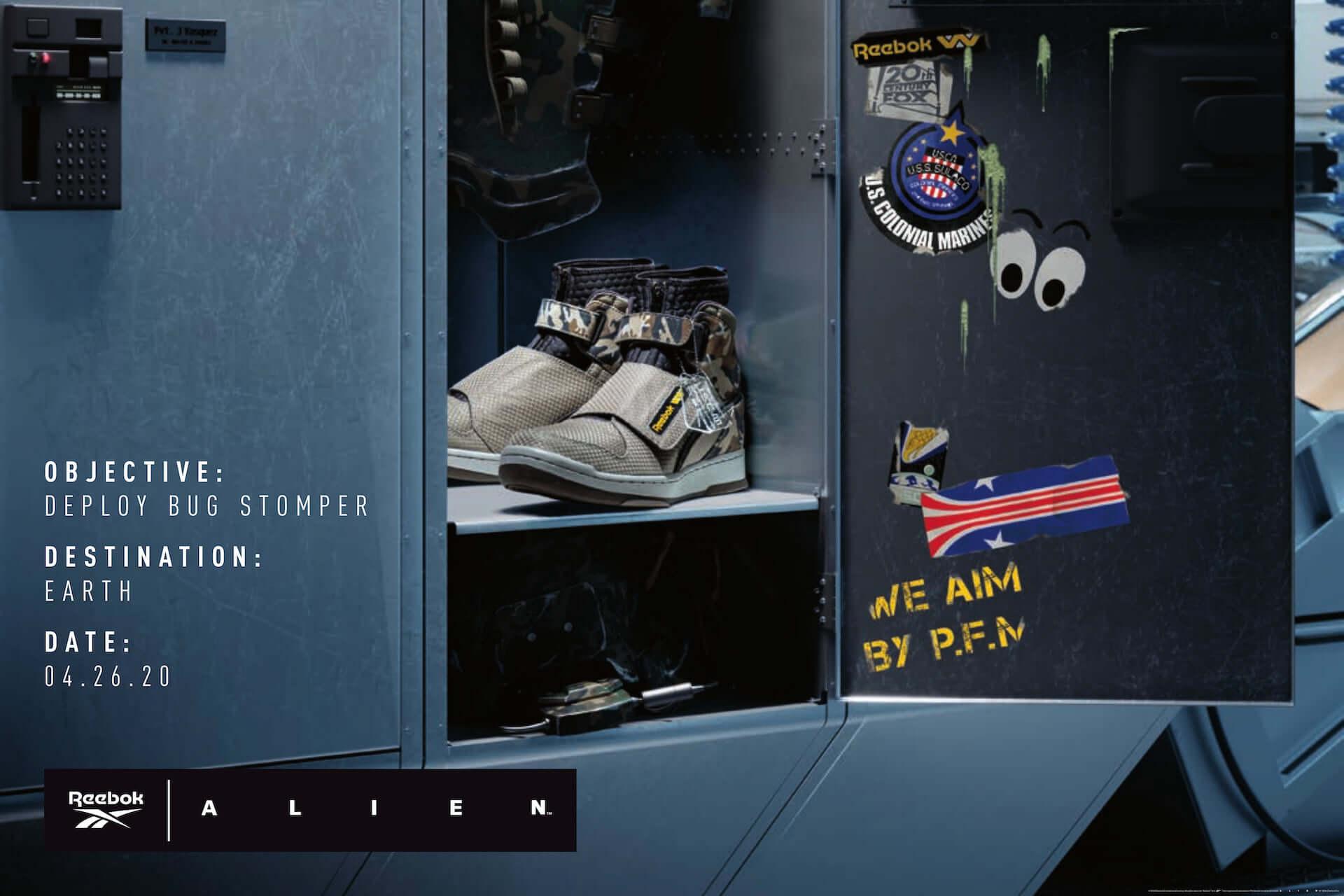 リーボック×映画『エイリアン2』コラボシューズ最新作!世界観を巧みに再現したミリタリーデザインでエイリアン・デーに発売決定 lf200421_reebok_alien_12-1920x1280