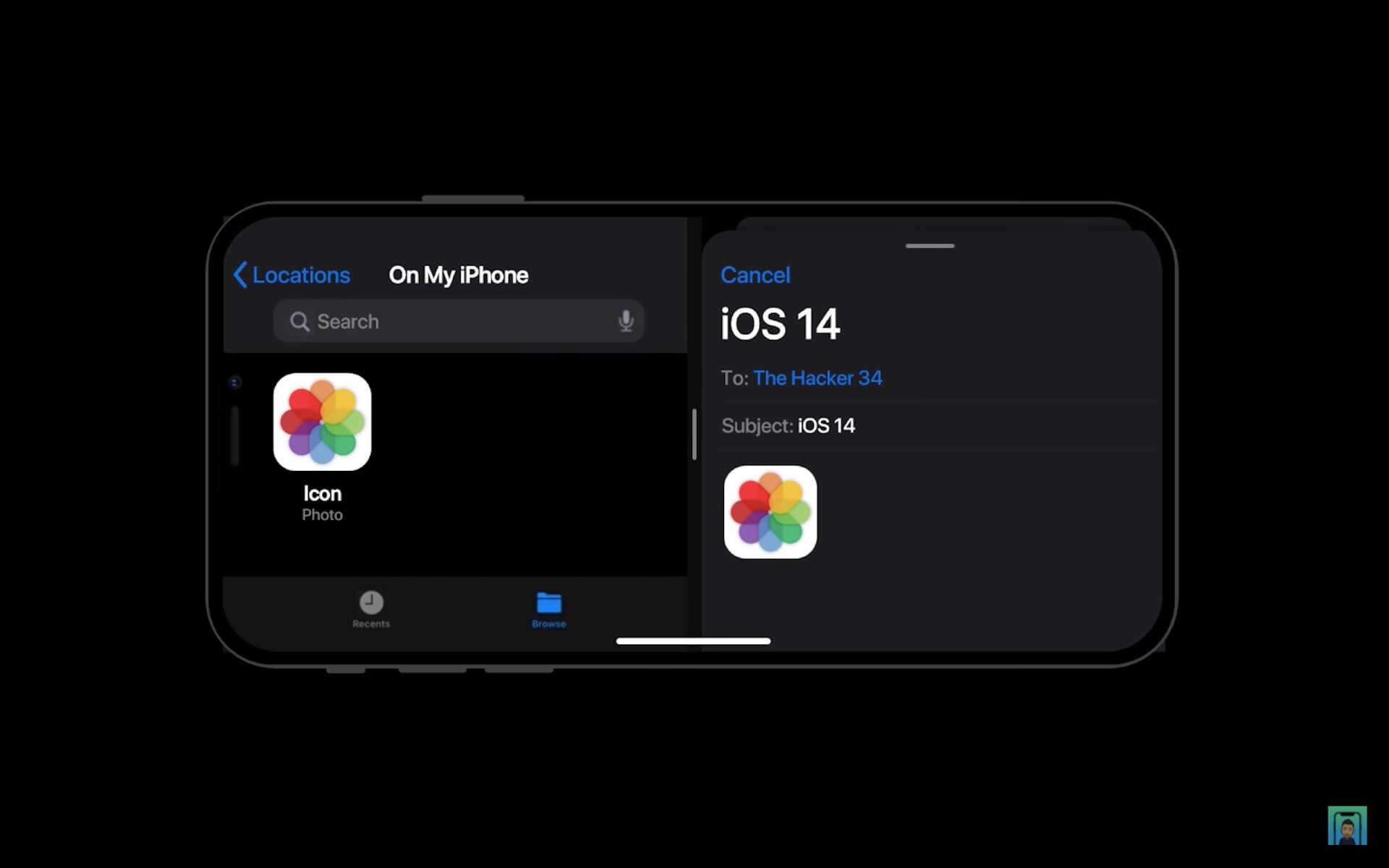 6月リリースと噂のiPhone用OS「iOS 14」はこうなる?iPhone 12と掛け合わせたコンセプト動画が公開 tech200423_ios14_12