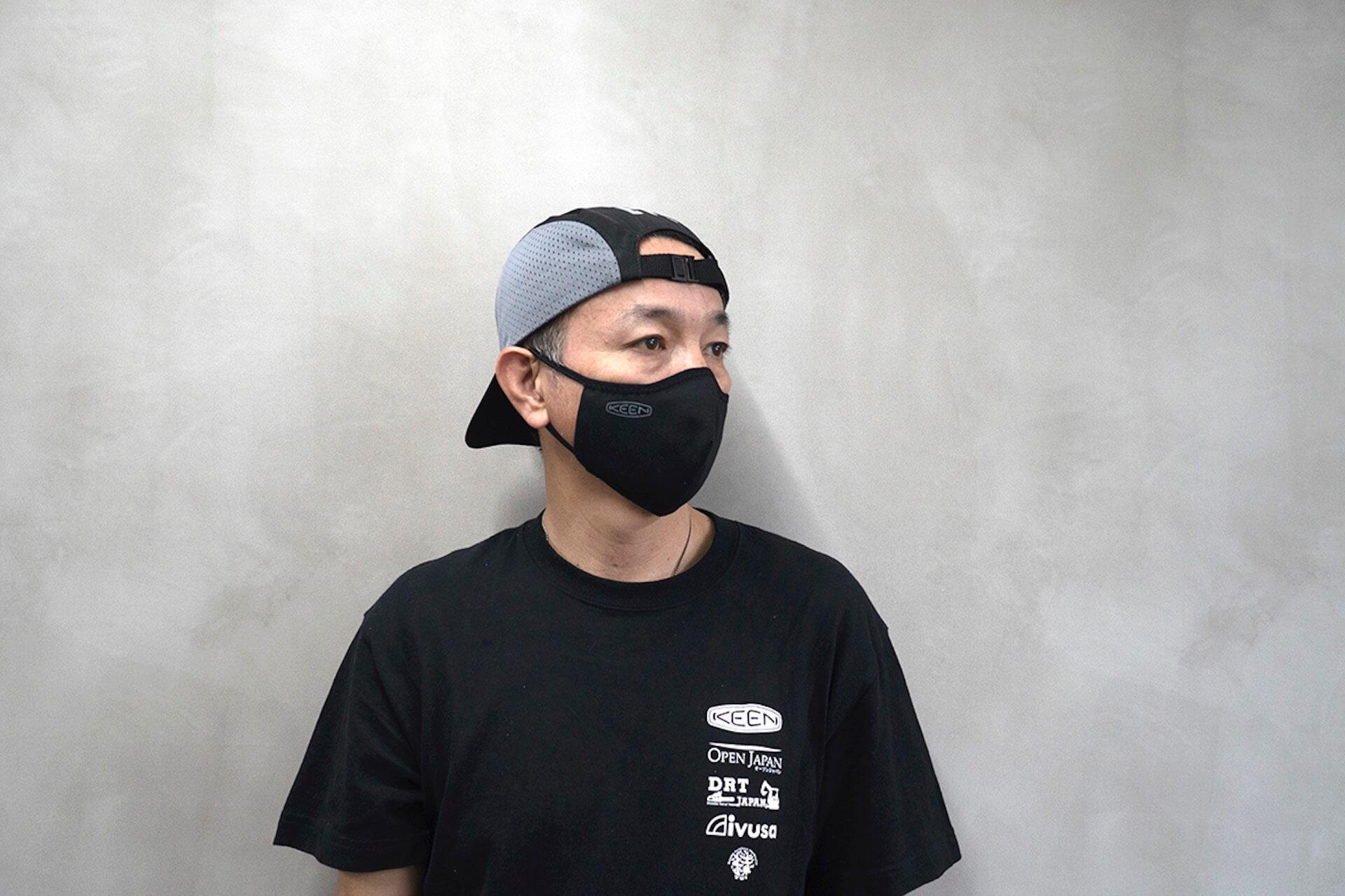 KEENがマスク15万枚を無償提供|タイの自社工場で洗って使えるリバーシブル立体マスクの製造を開始 lf200424_keen_mask_03