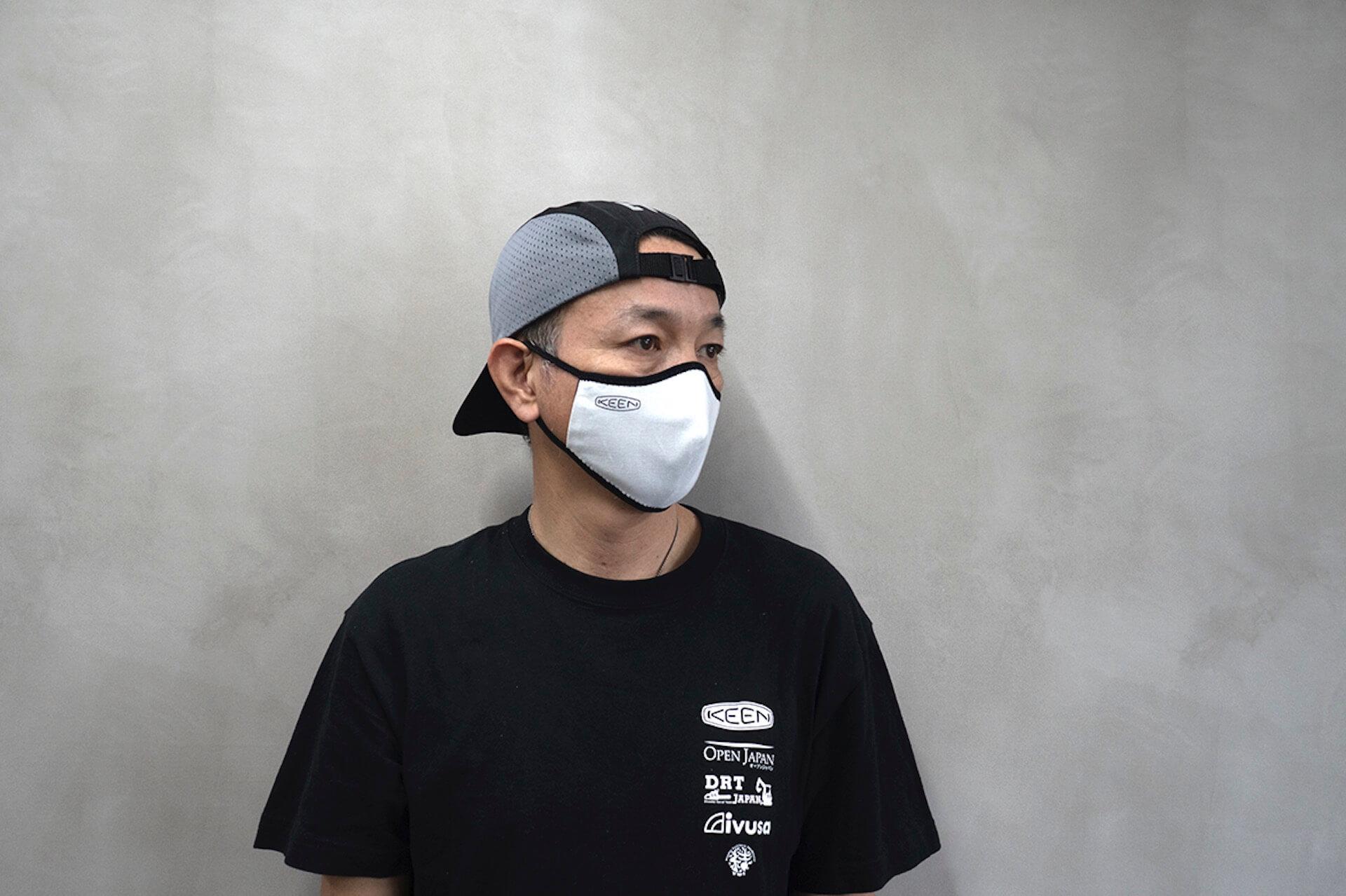 KEENがマスク15万枚を無償提供|タイの自社工場で洗って使えるリバーシブル立体マスクの製造を開始 lf200424_keen_mask_04