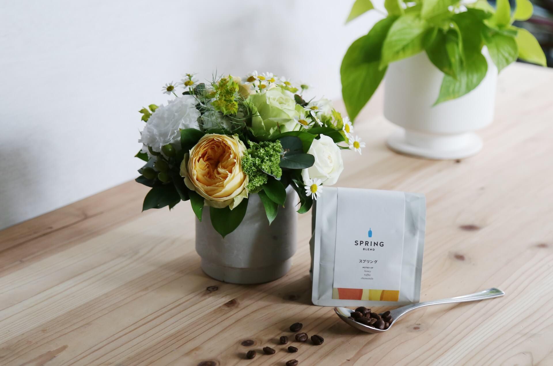 季節の花とコーヒーの母の日ギフトが登場!フラワーアレンジメント、ブーケと「スプリングブレンド」コーヒーがセットに lf200428_mothersdaygift_04