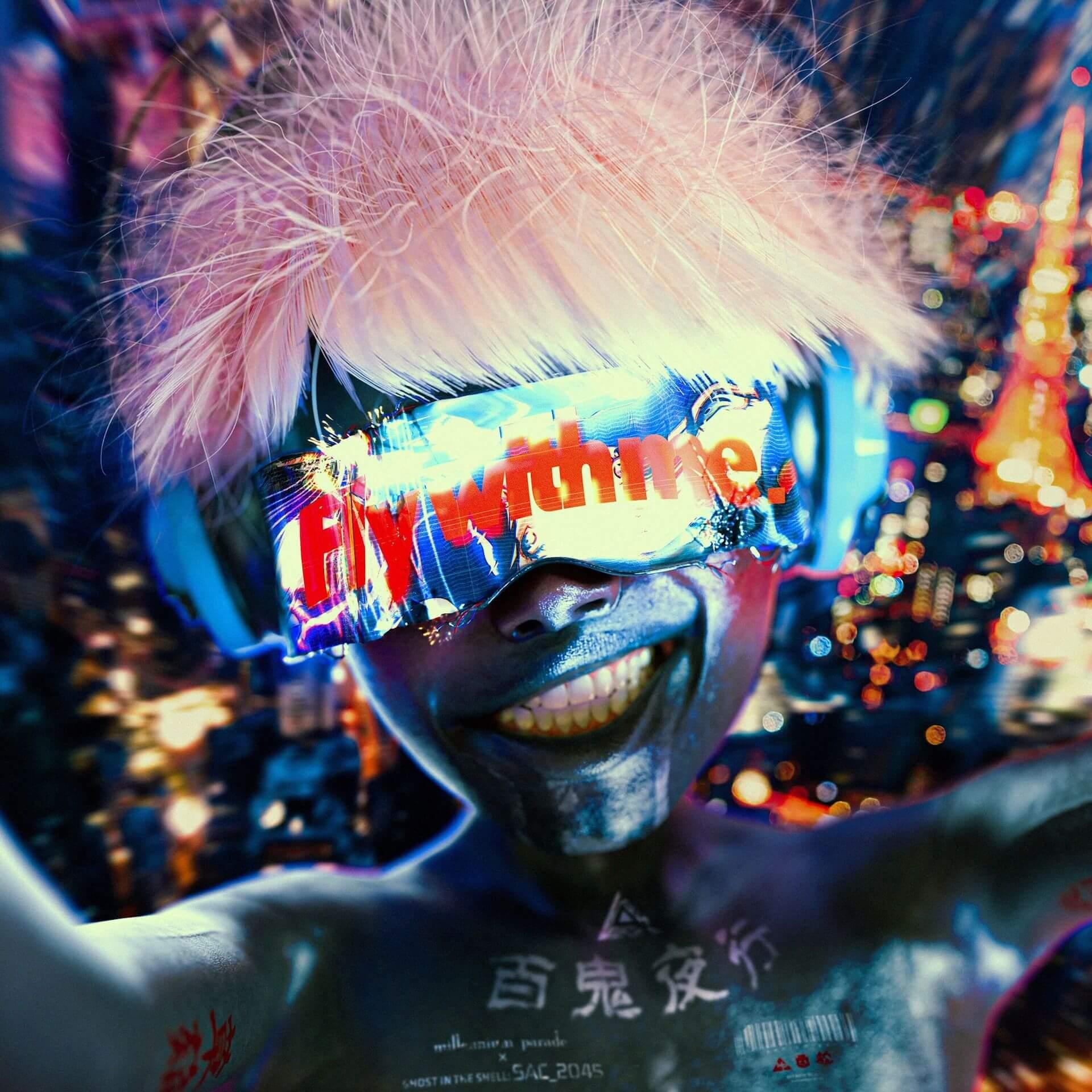 """常田大希・millennium paradeによる『攻殻機動隊 SAC_2045』OPテーマ""""Fly with me""""MVがプレミア公開!PERIMETRONが制作 music200428_millenniumparade_4"""