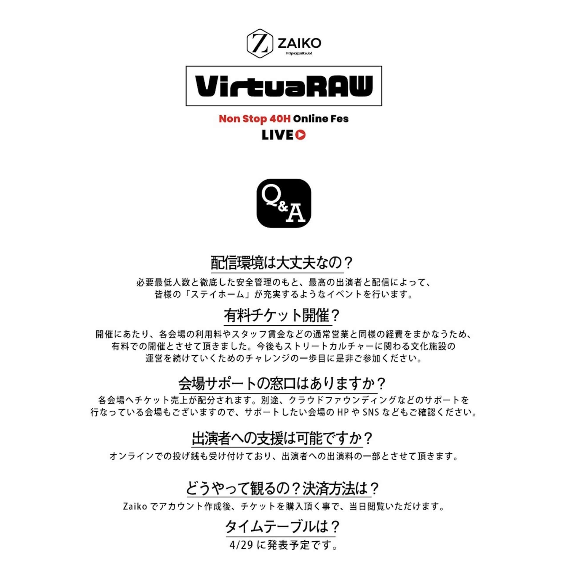 40時間配信で全国の会場をつなぐオンラインフェス「VirtuaRAW」が初開催|DLiP RECORDS、K-BOMB、KOJOE、OMSB&Hi'Specら50組以上が登場 music200502-virtualraw-1